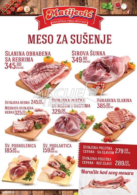 Matijević - Redovna akcija sve za sušenje mesa