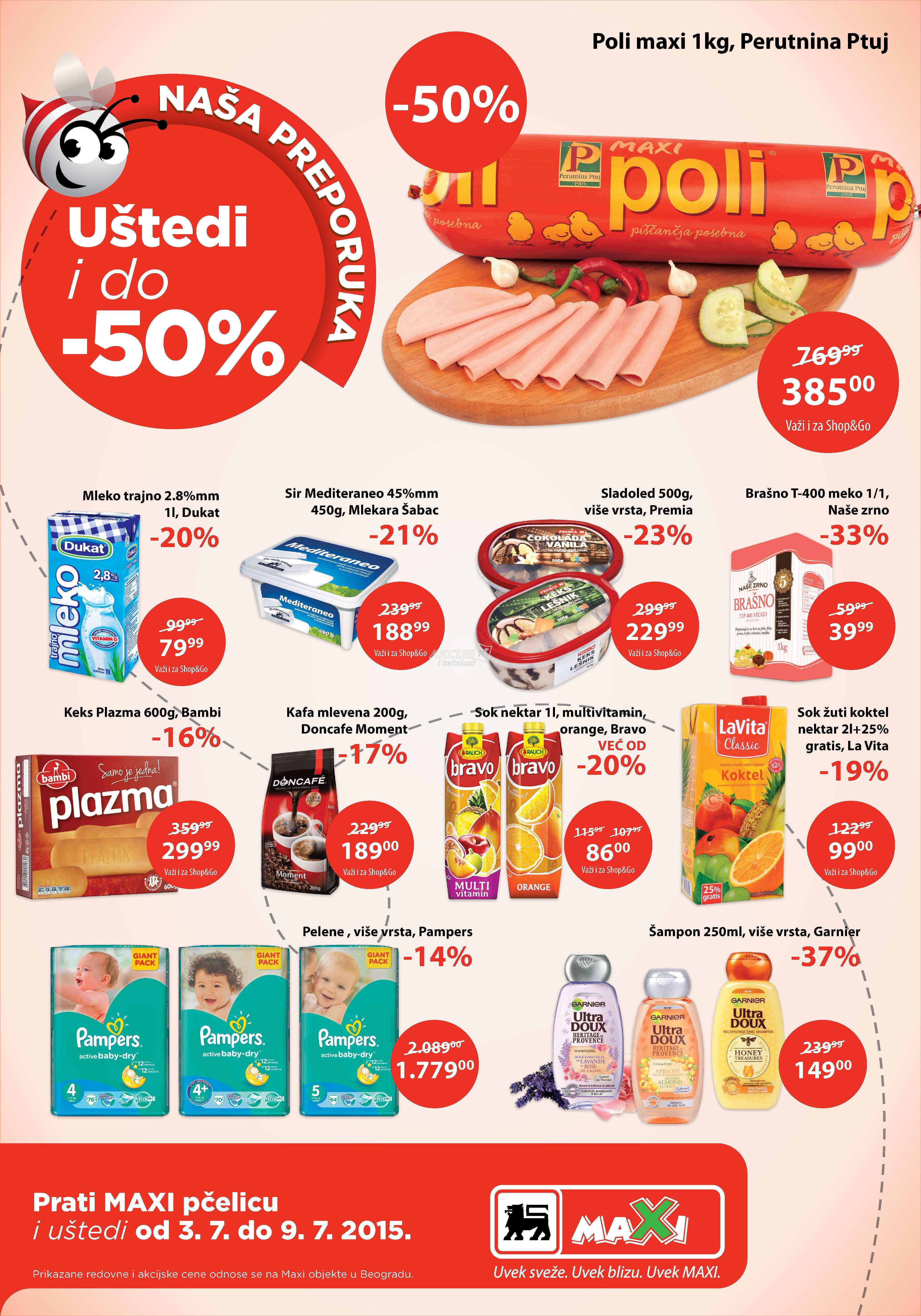 Maxi akcija nedeljna kupovina