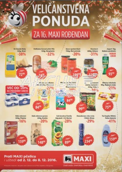 Maxi - Redovna akcija nedeljne kupovine