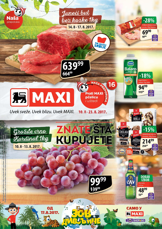 Maxi - Redovna akcija odlične kupovine