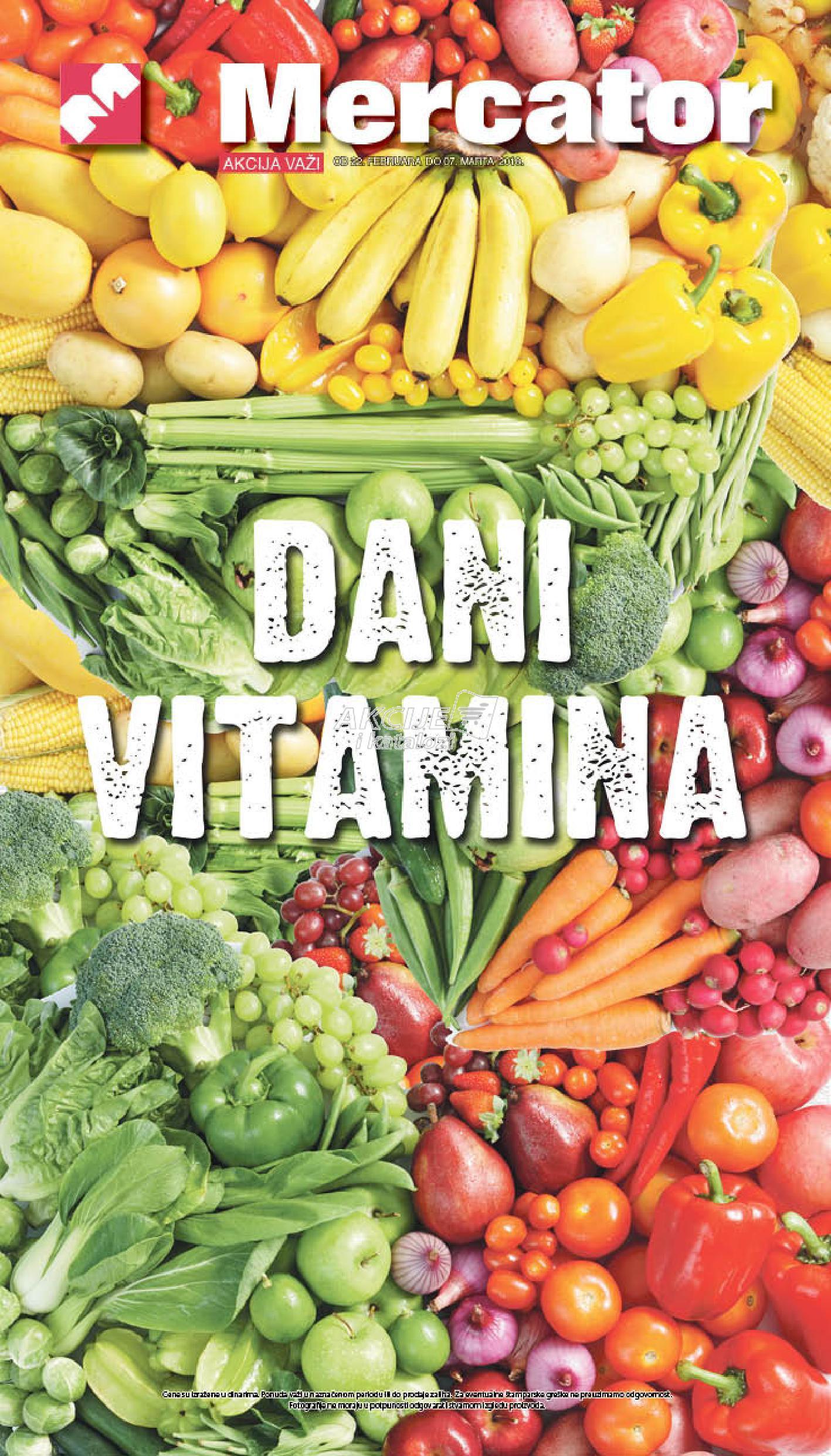 Mercator - Redovna akcija dani vitamina