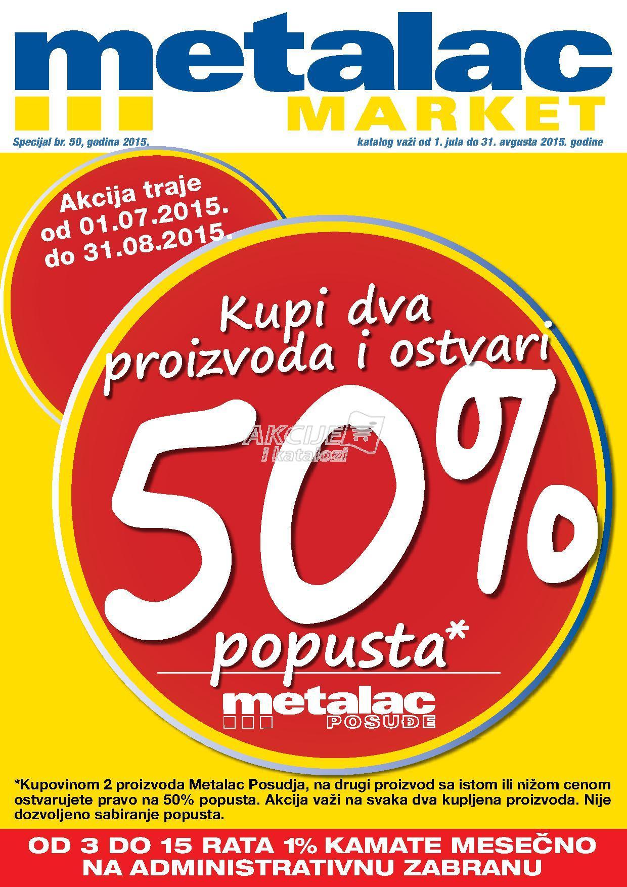 Metalac Market akcija letnje ponude