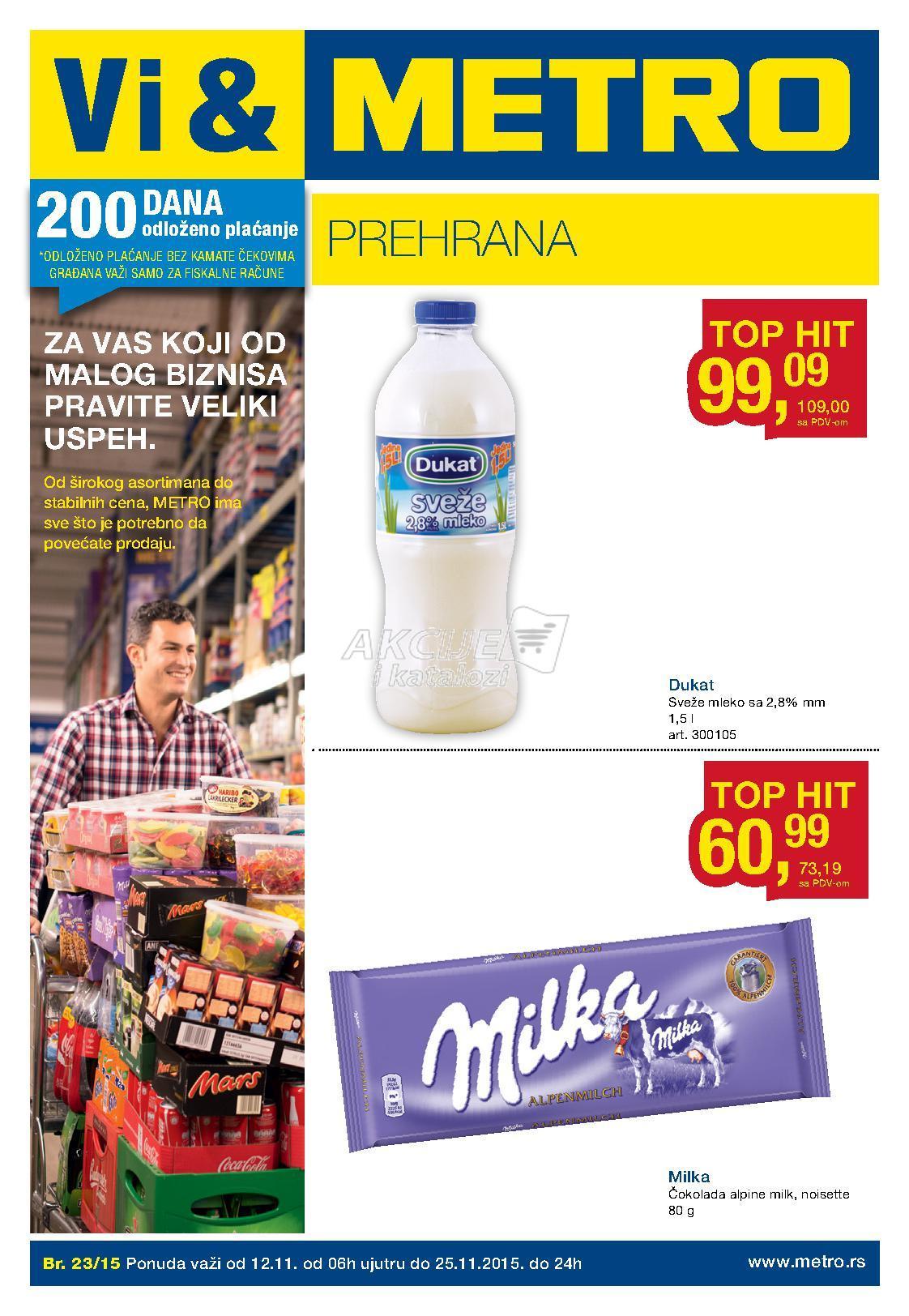 Metro - Redovna akcija odlična kupovina prehrane