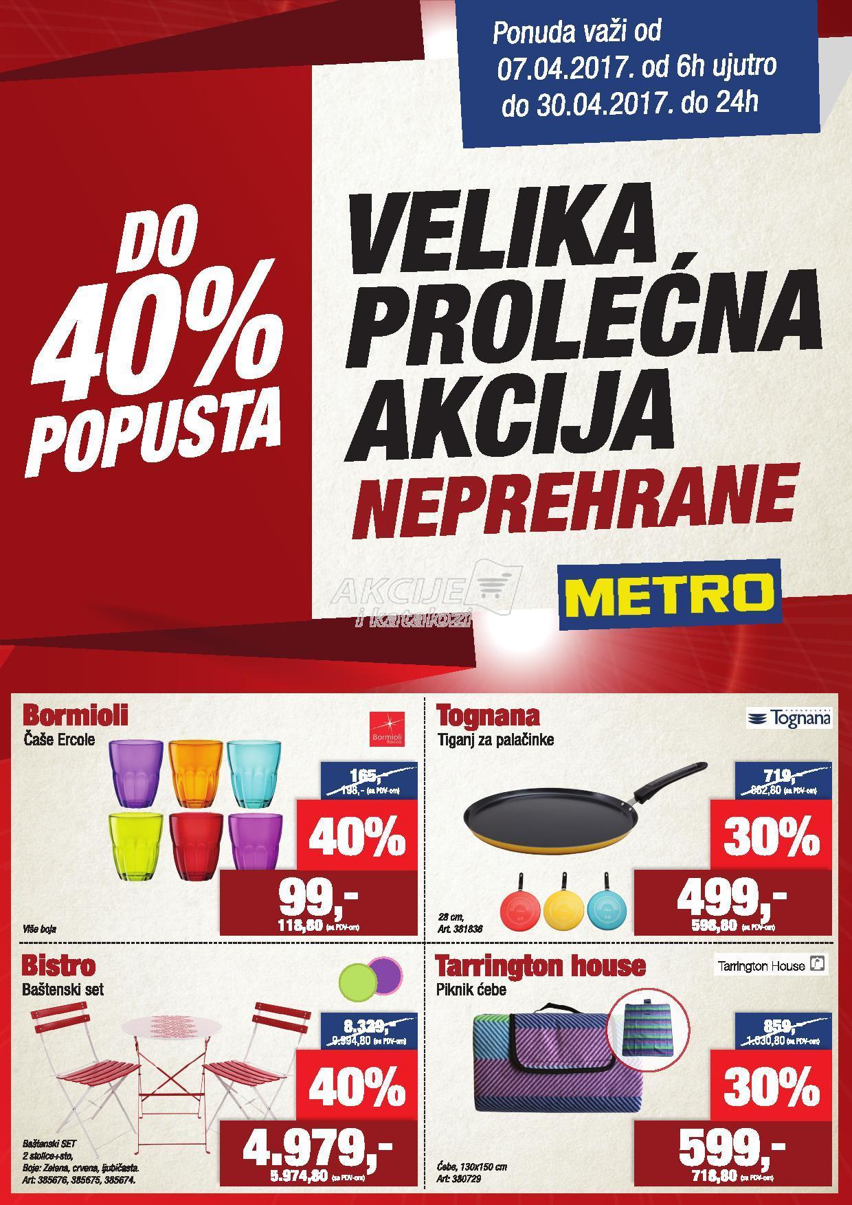 Metro - Redovna akcija prolećna kupovina