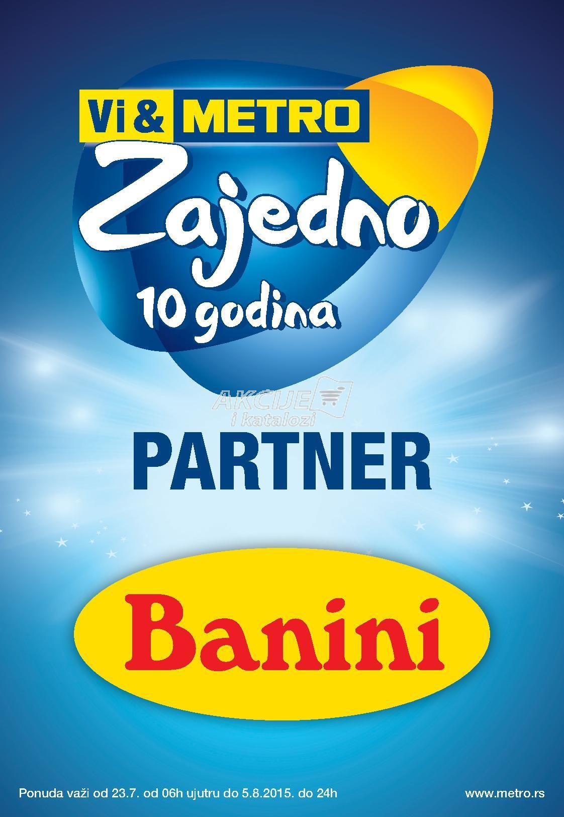 Metro - Redovna akcija super cene Banini proizvoda