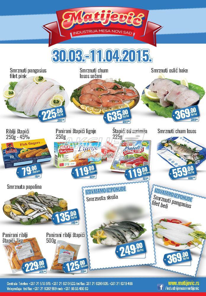 Matijević - Redovna akcija ponuda ribe