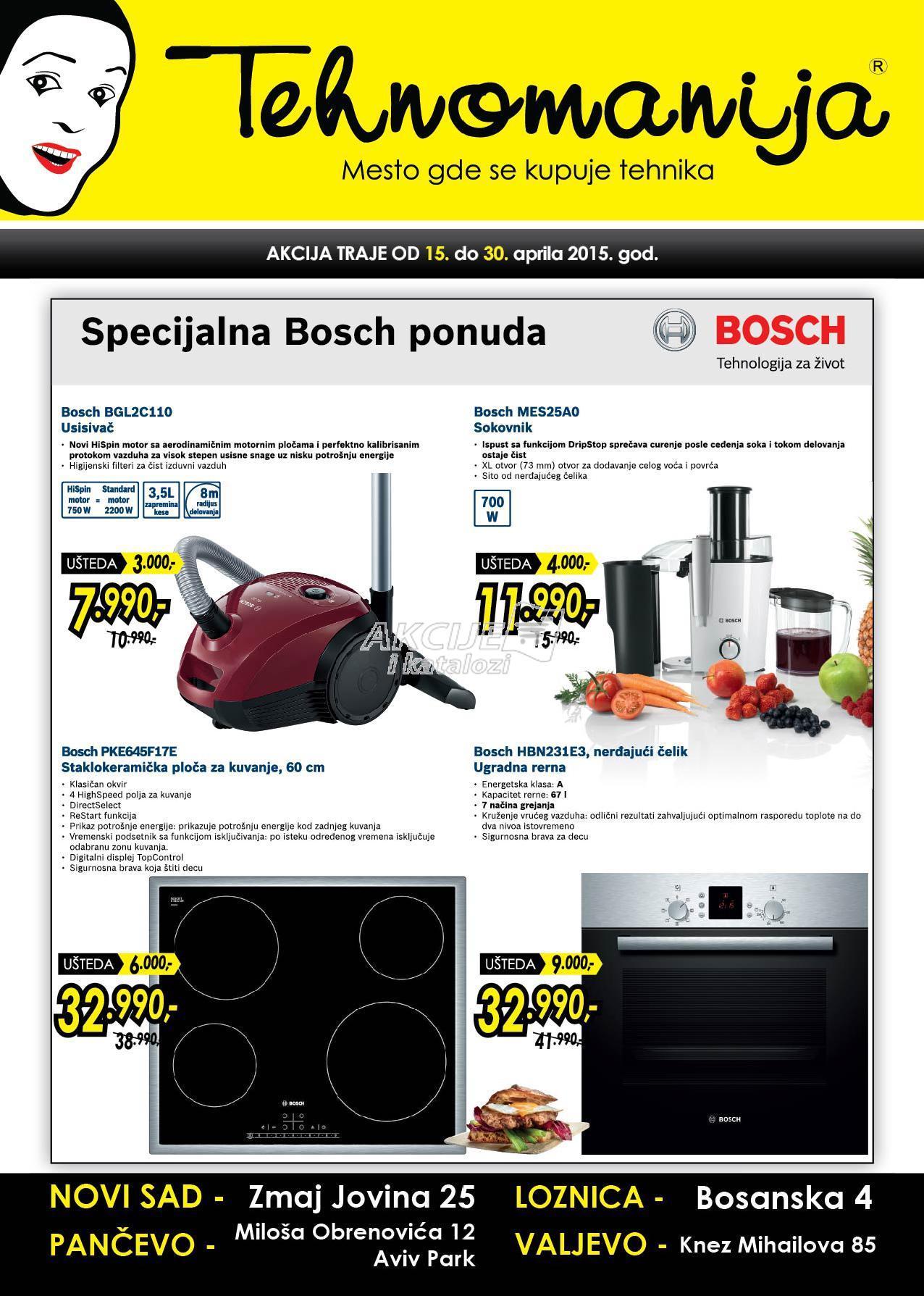 Tehnomanija - Redovna akcija Bosch specijal