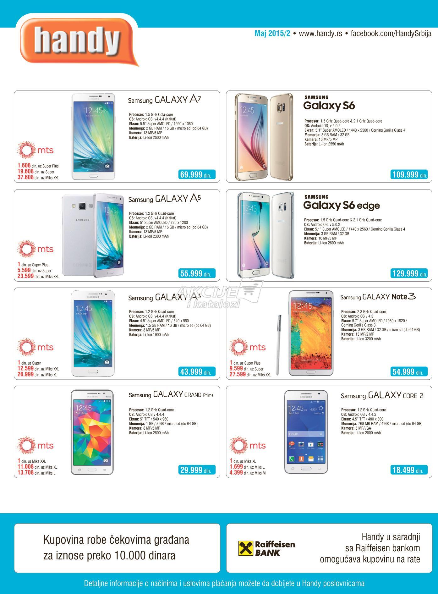 Handy - Redovna akcija MTS ponuda