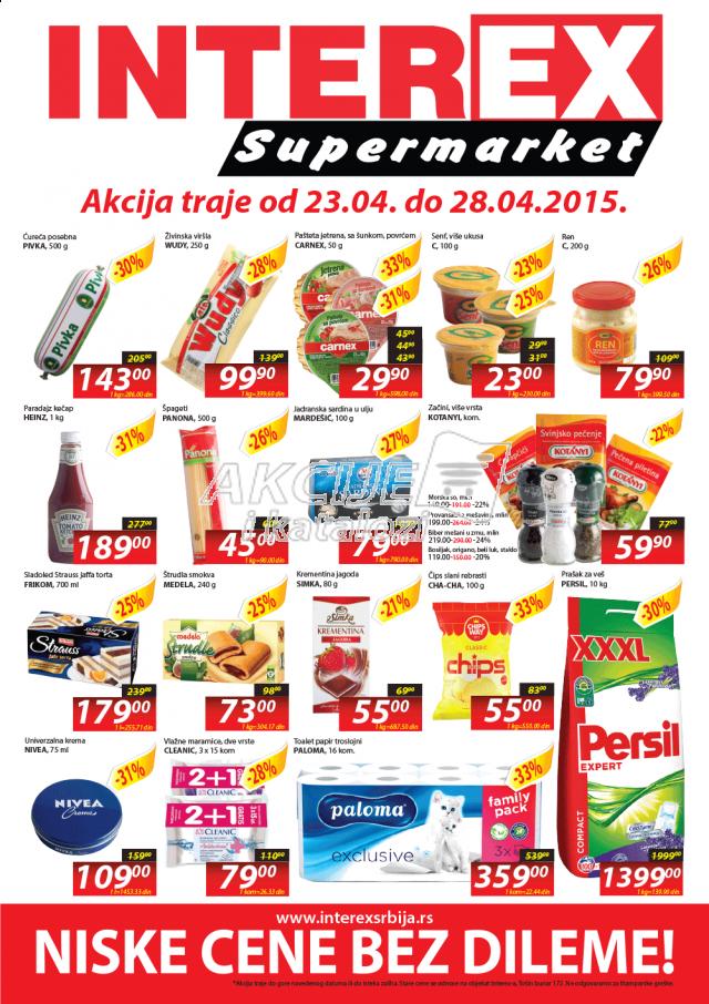 Interex - Redovna akcija nedeljna kupovina