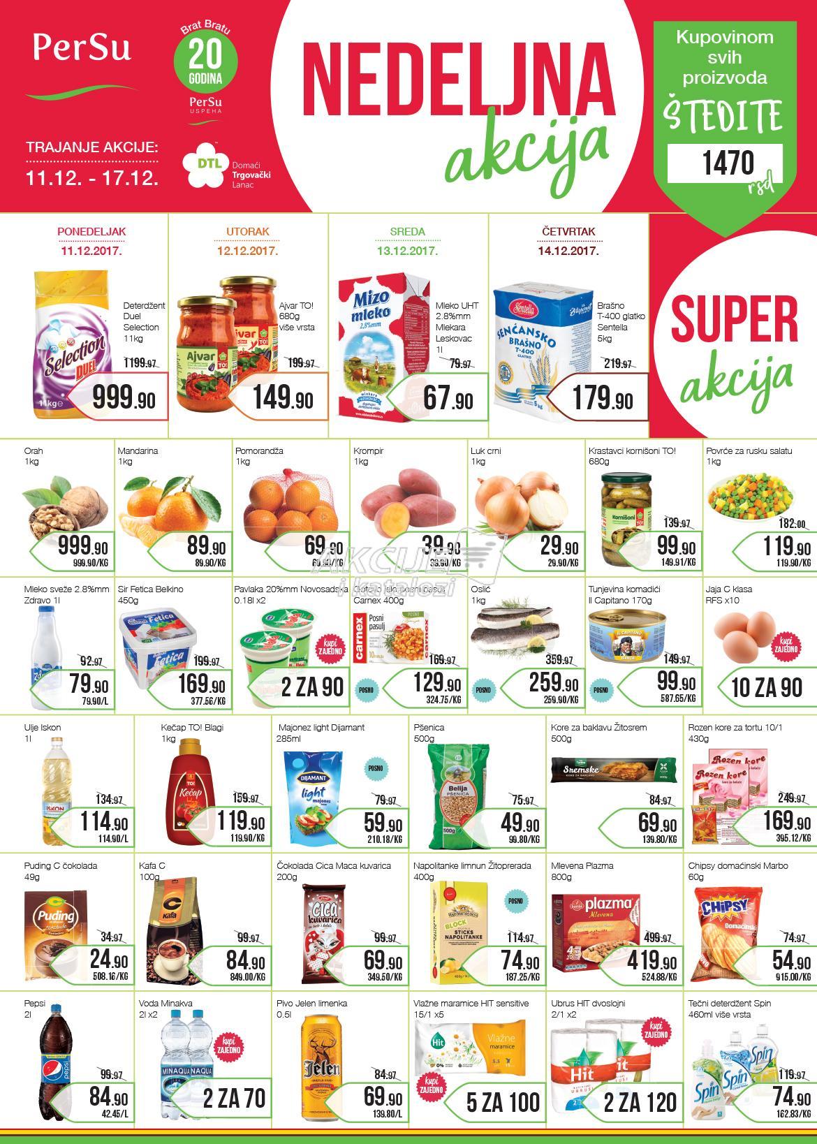 Persu - Redovna akcija nedelja super cena