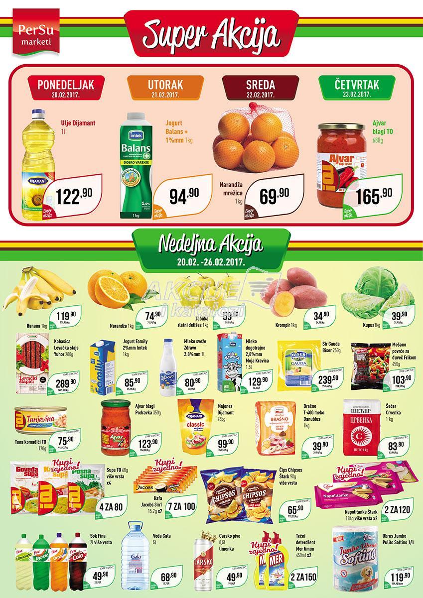 Persu - Redovna akcija nedeljne kupovine