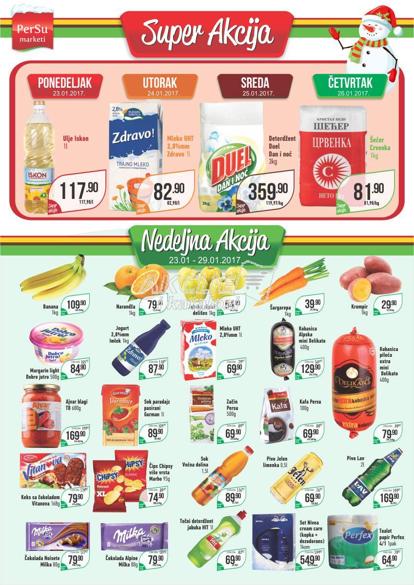 Persu akcija nedeljne kupovine