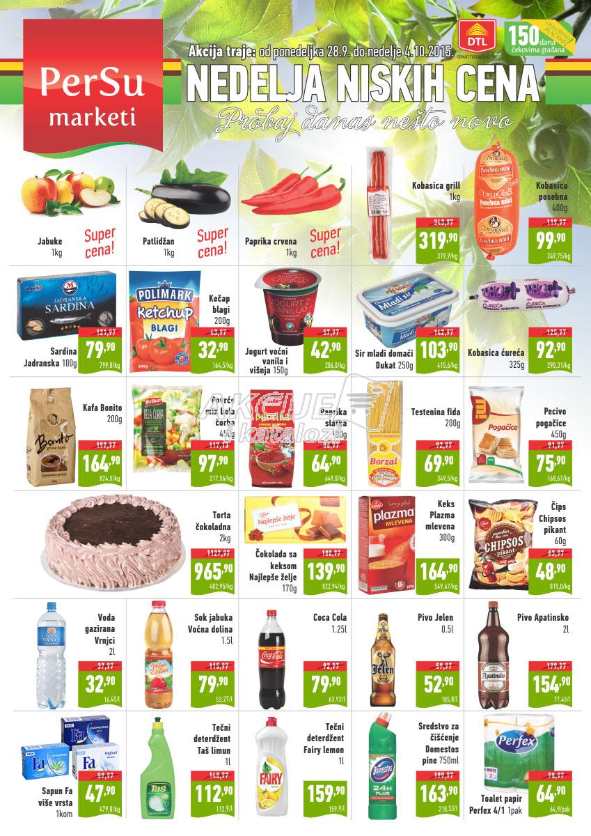 Persu - Redovna akcija odlične nedeljne kupovine