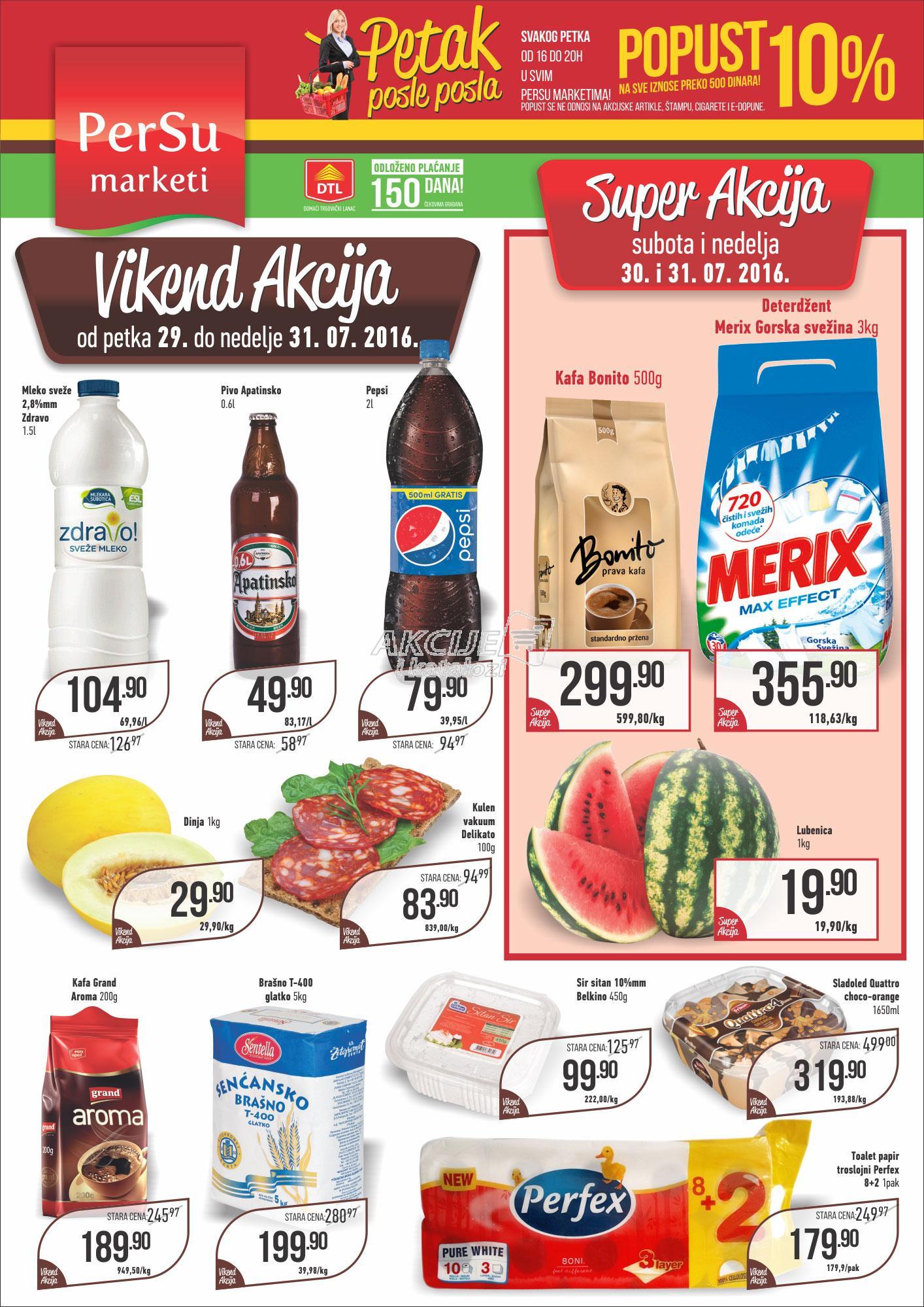 Persu akcija vikend super kupovine
