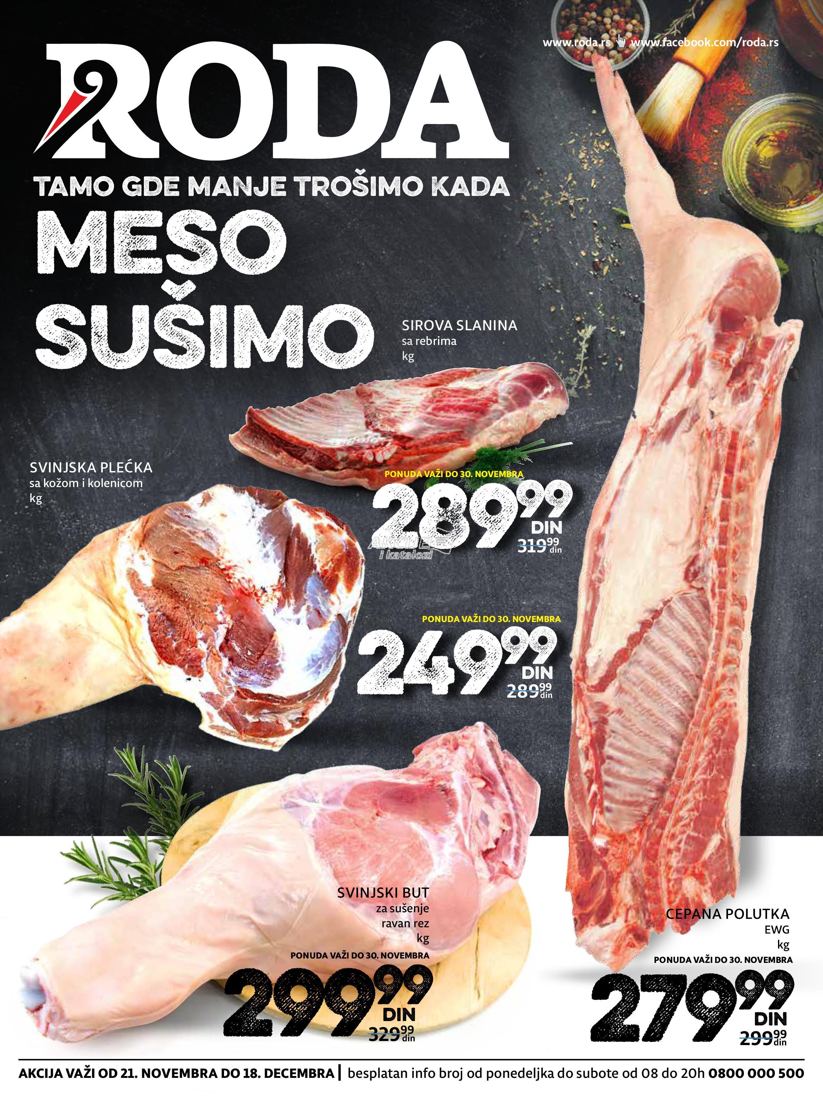 Roda - Redovna akcija sve za sušenje mesa