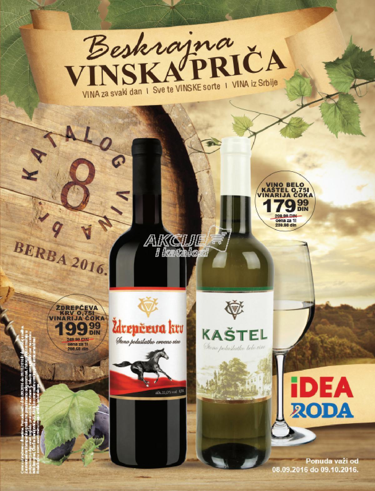 Roda - Redovna akcija katalog bejskrajna vinska priča