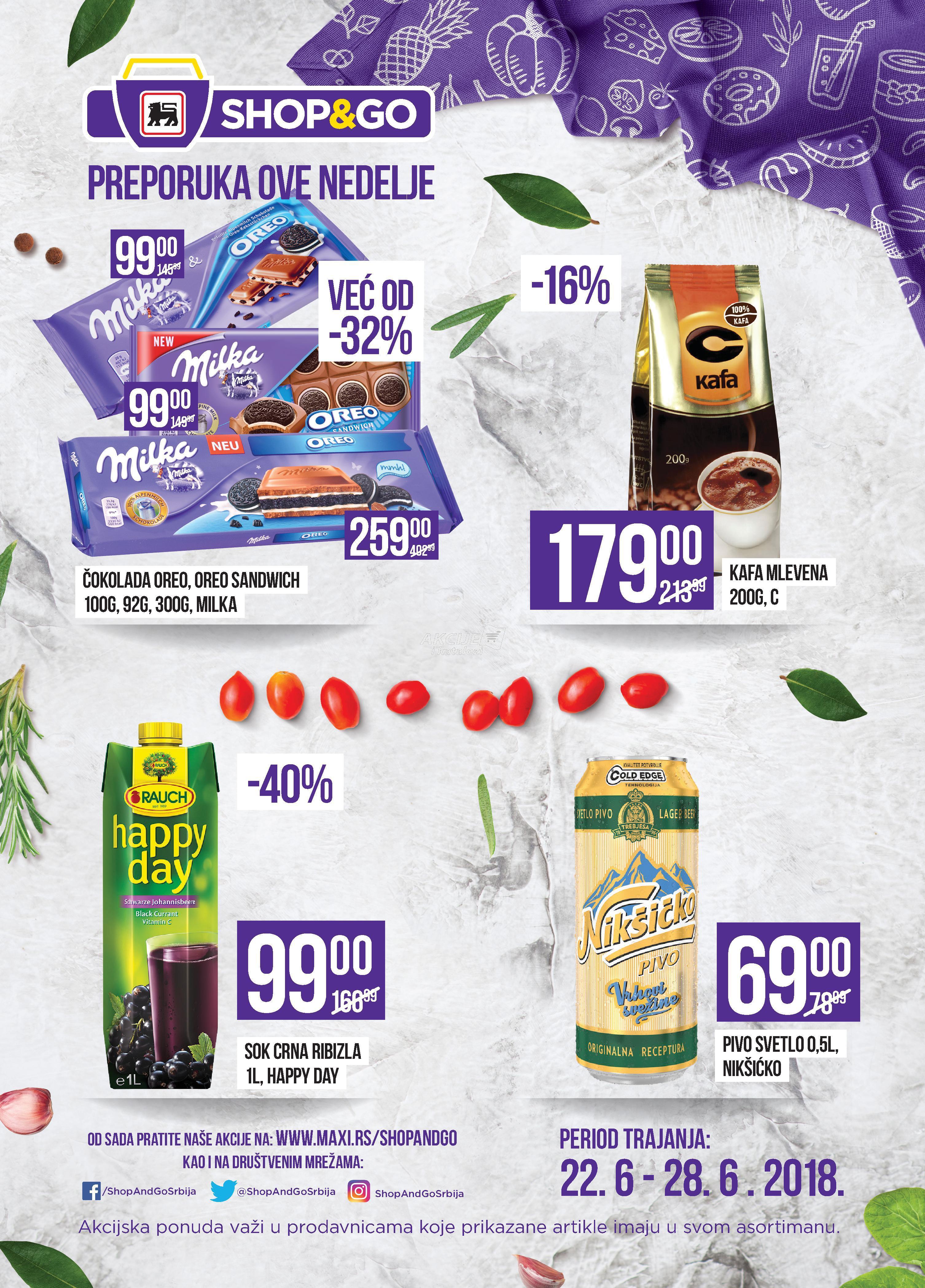Shop&go akcija nedeljne kupovine