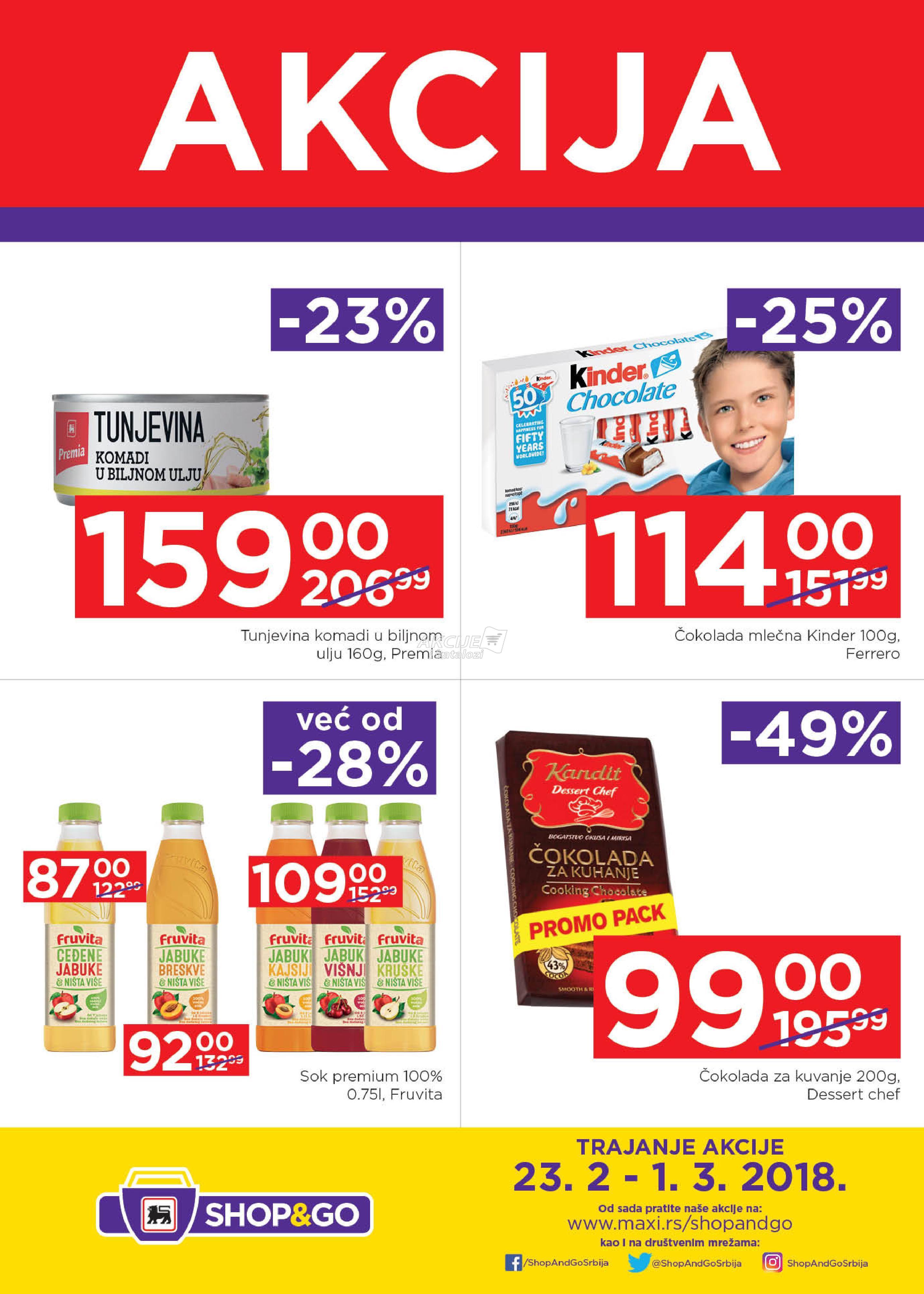 Shop&go - Redovna akcija nedeljne kupovine