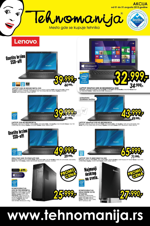 Tehnomanija - Redovna akcija super cene IT opreme i fotoaparata
