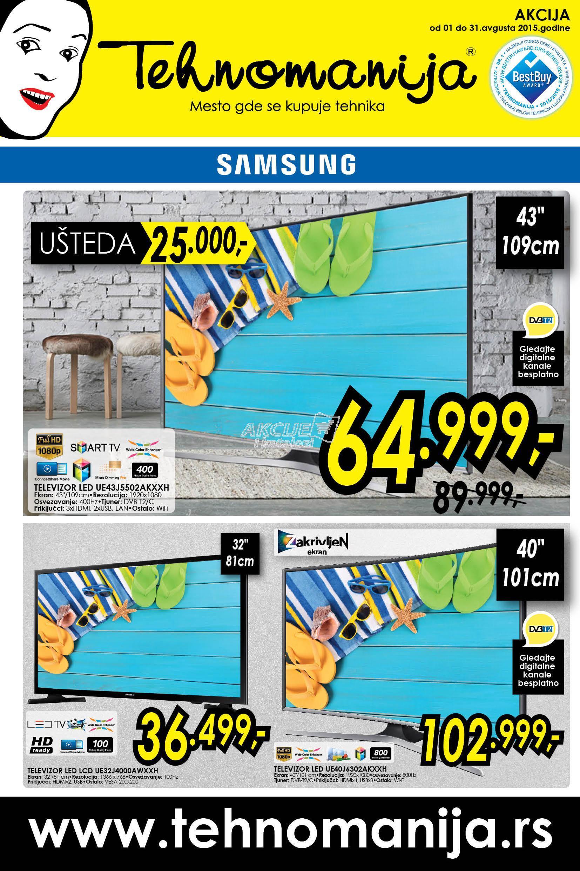 Tehnomanija - Redovna akcija super cene TV aparata