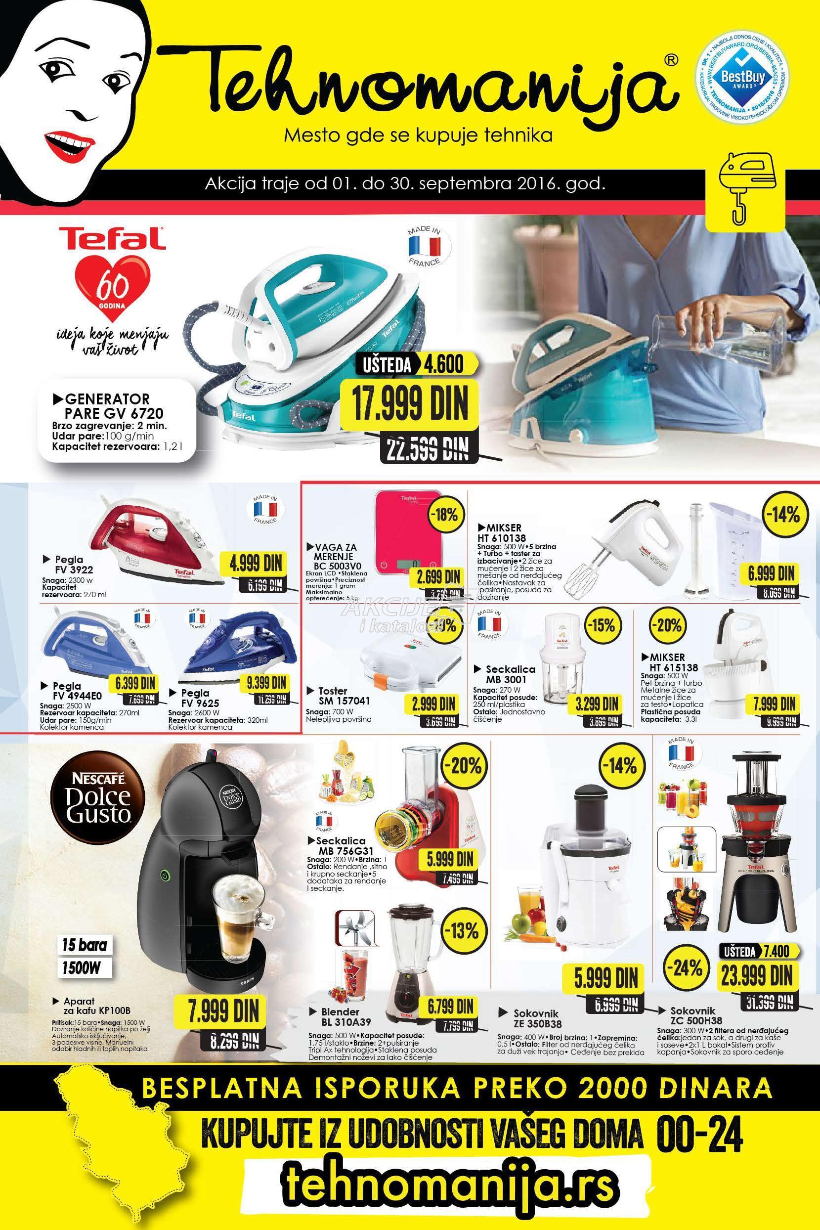 Tehnomanija - Redovna akcija katalog kućnih aparata
