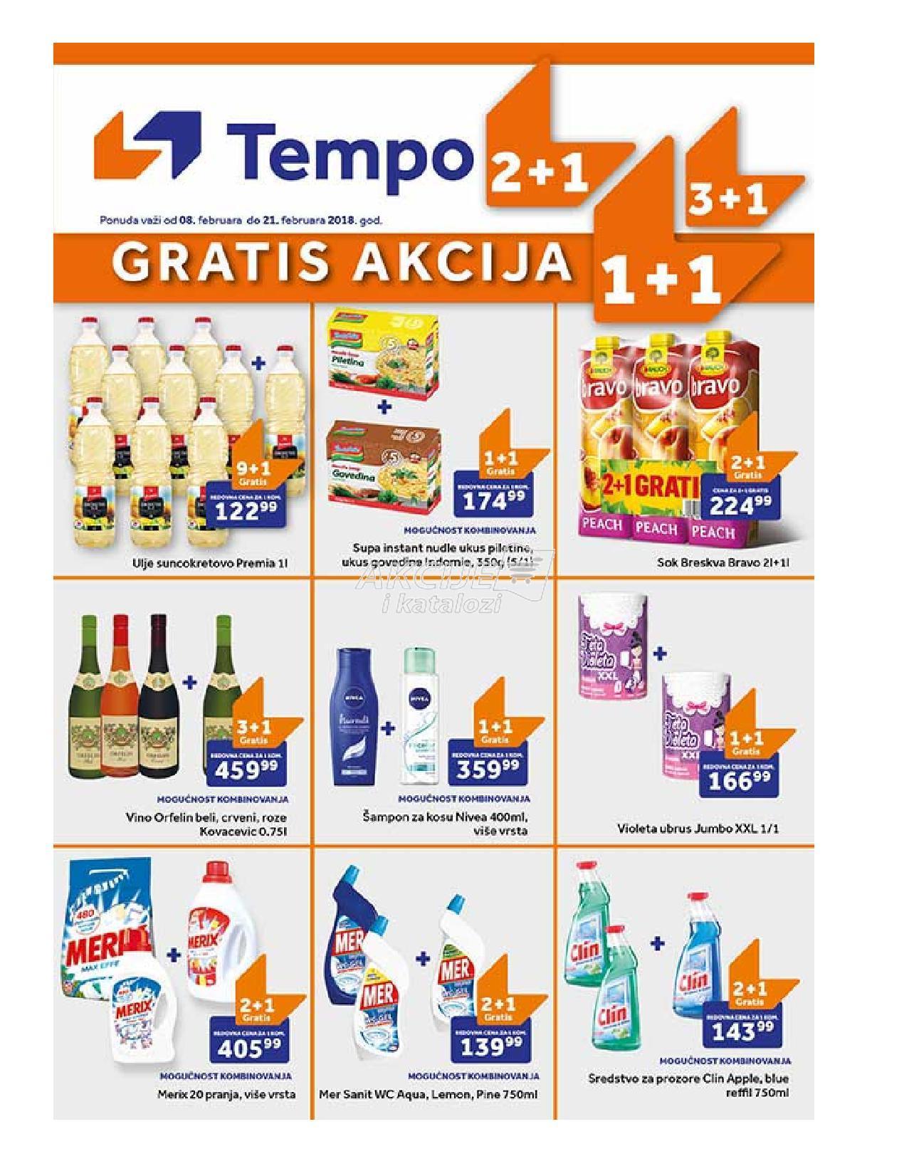 Tempo - Redovna akcija gratisa