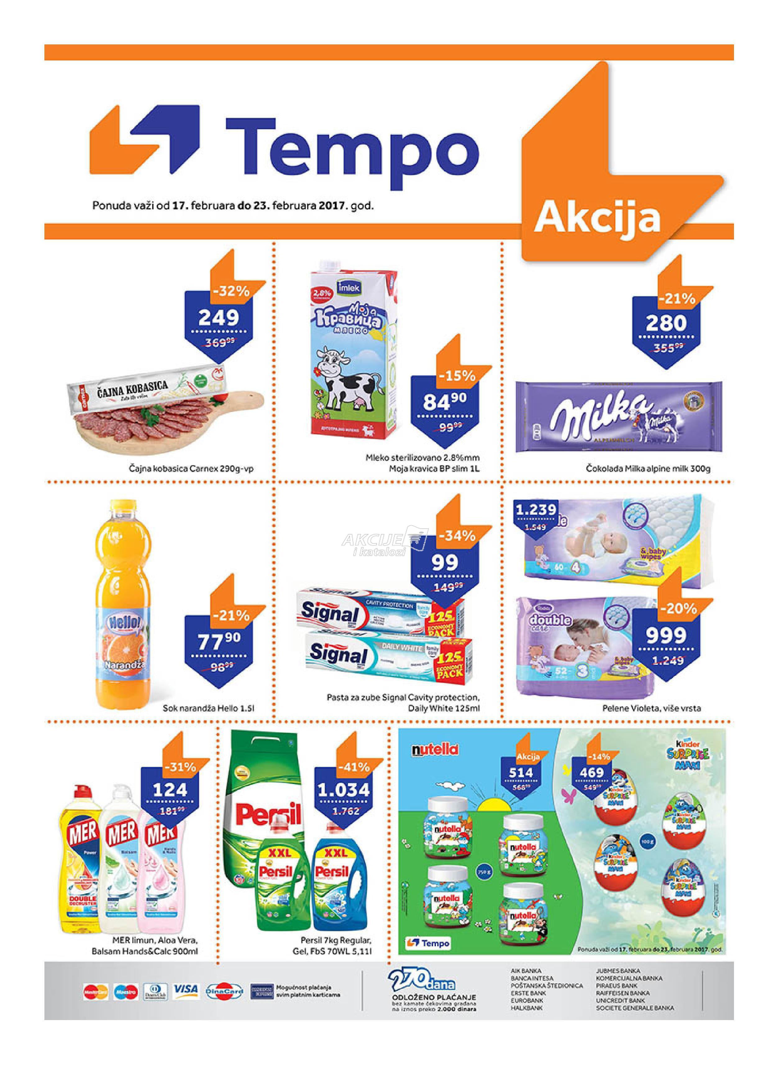 Tempo - Redovna akcija nedeljne kupovine