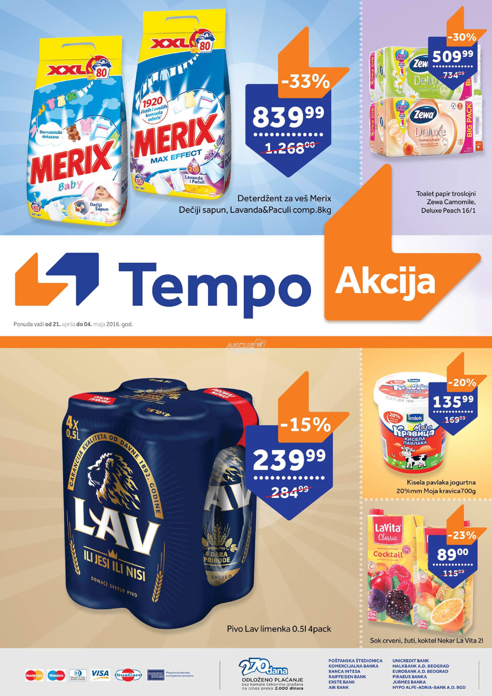 Tempo - Redovna akcija odličnih cena