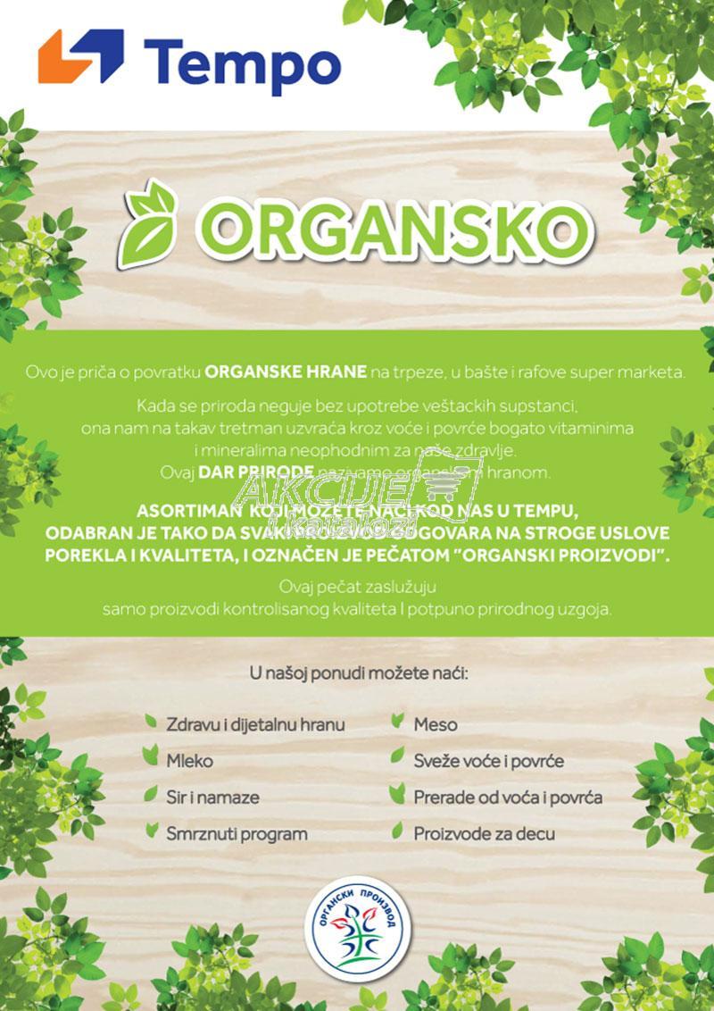 Tempo - Redovna akcija organskih proizvoda