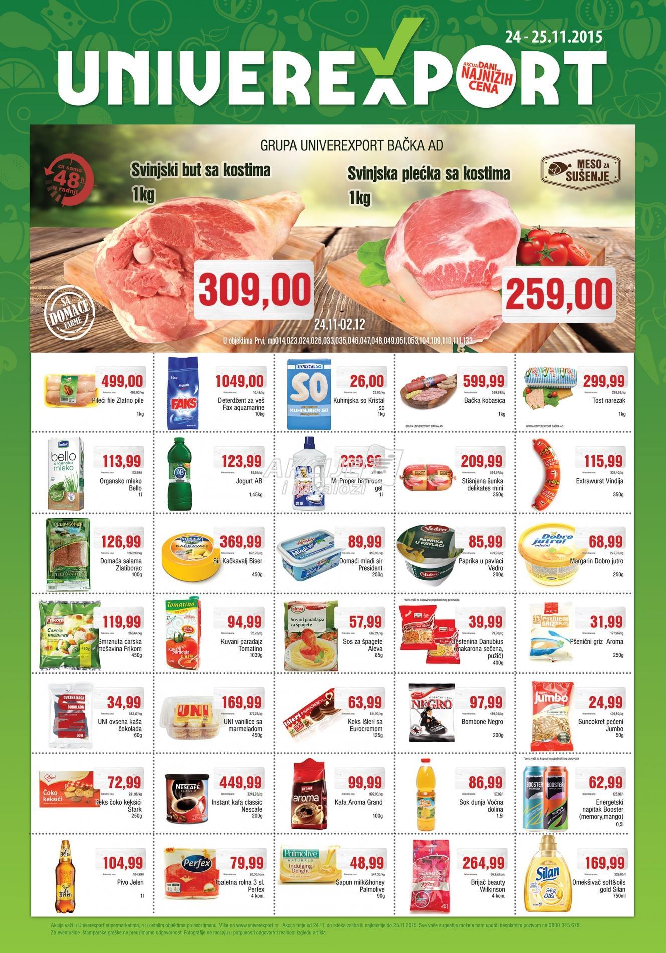 Univerexport - Redovna akcija dani super kupovine
