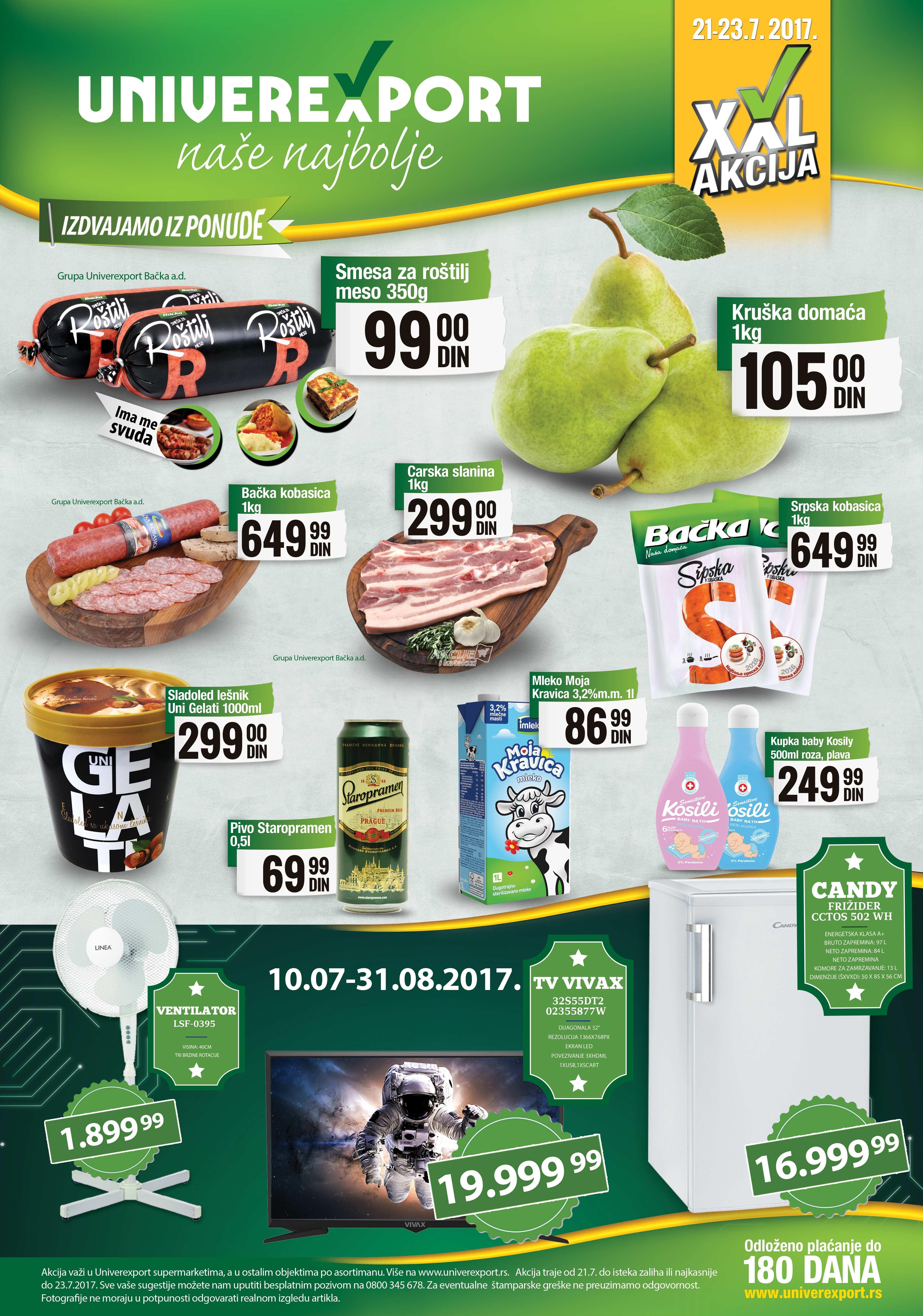 Univerexport vikend akcija nižih cena