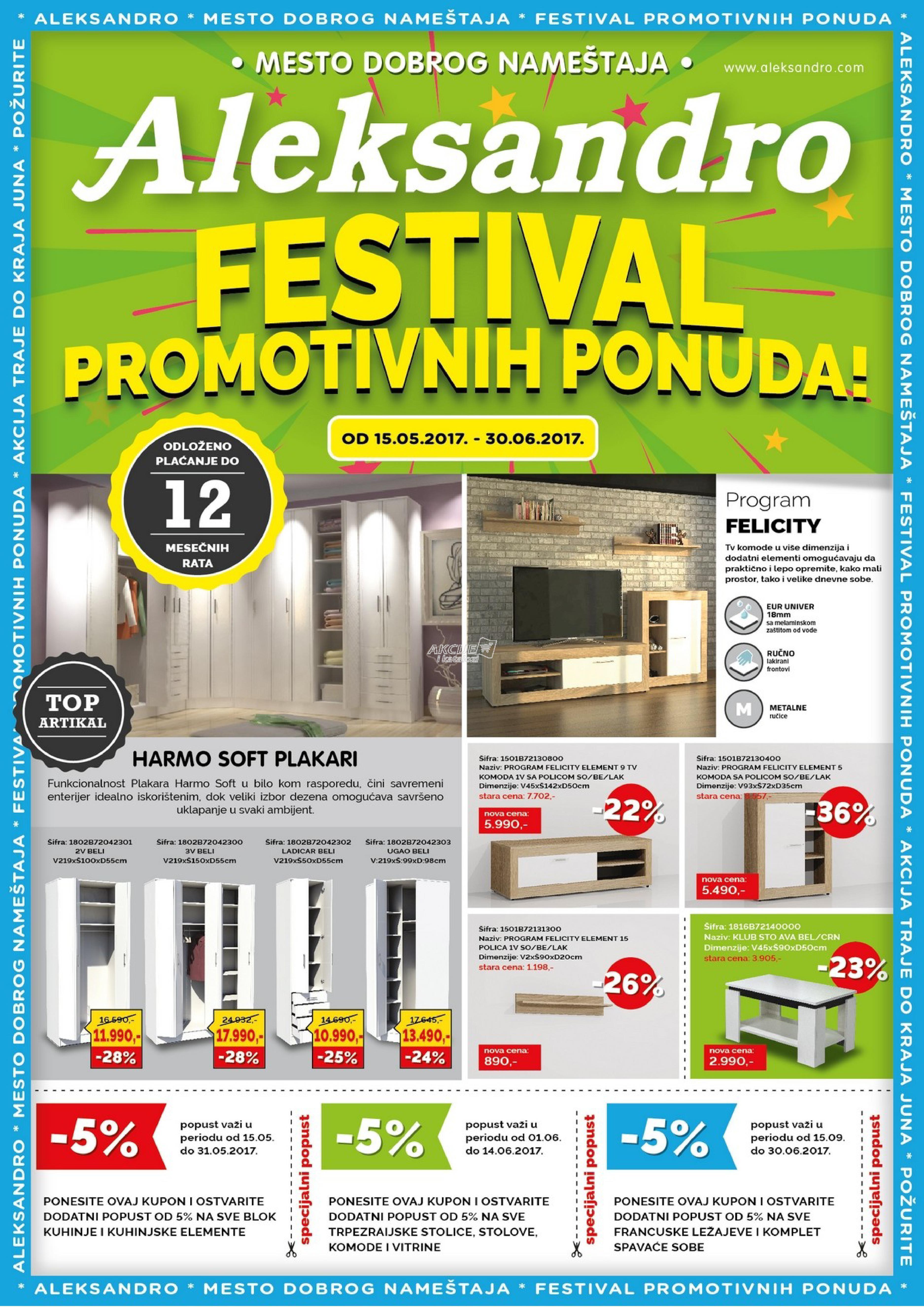 Aleksandro akcija festival super cena