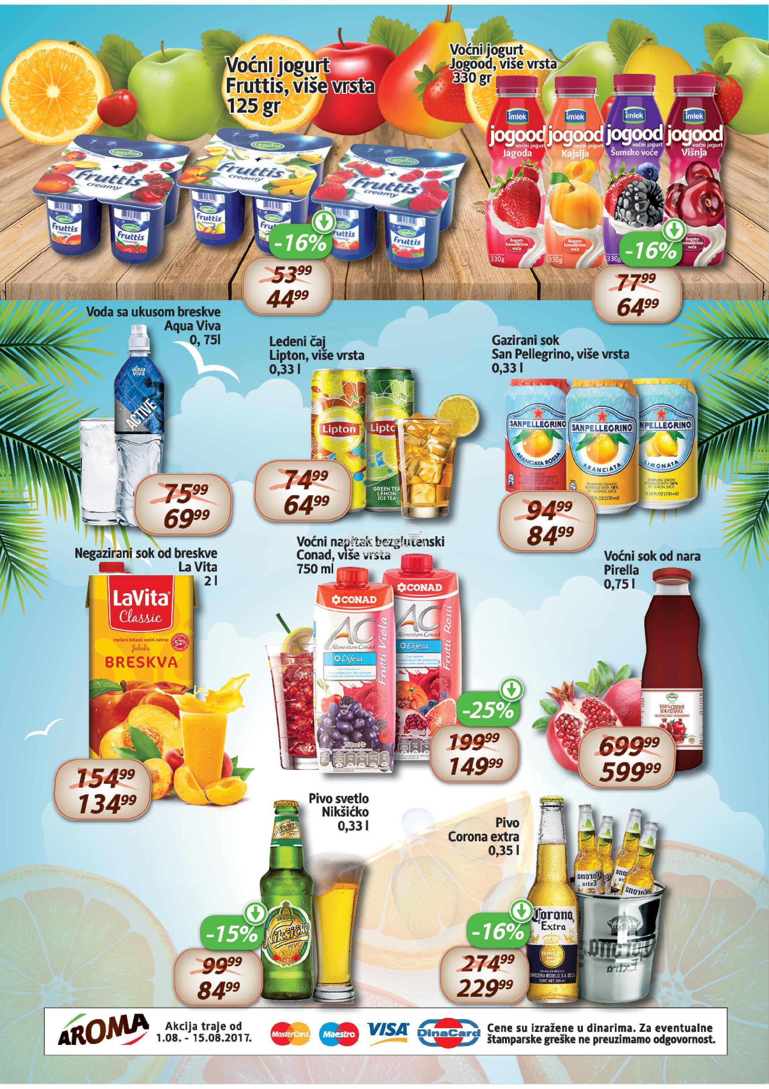 Aroma market akcija letnje osveženje