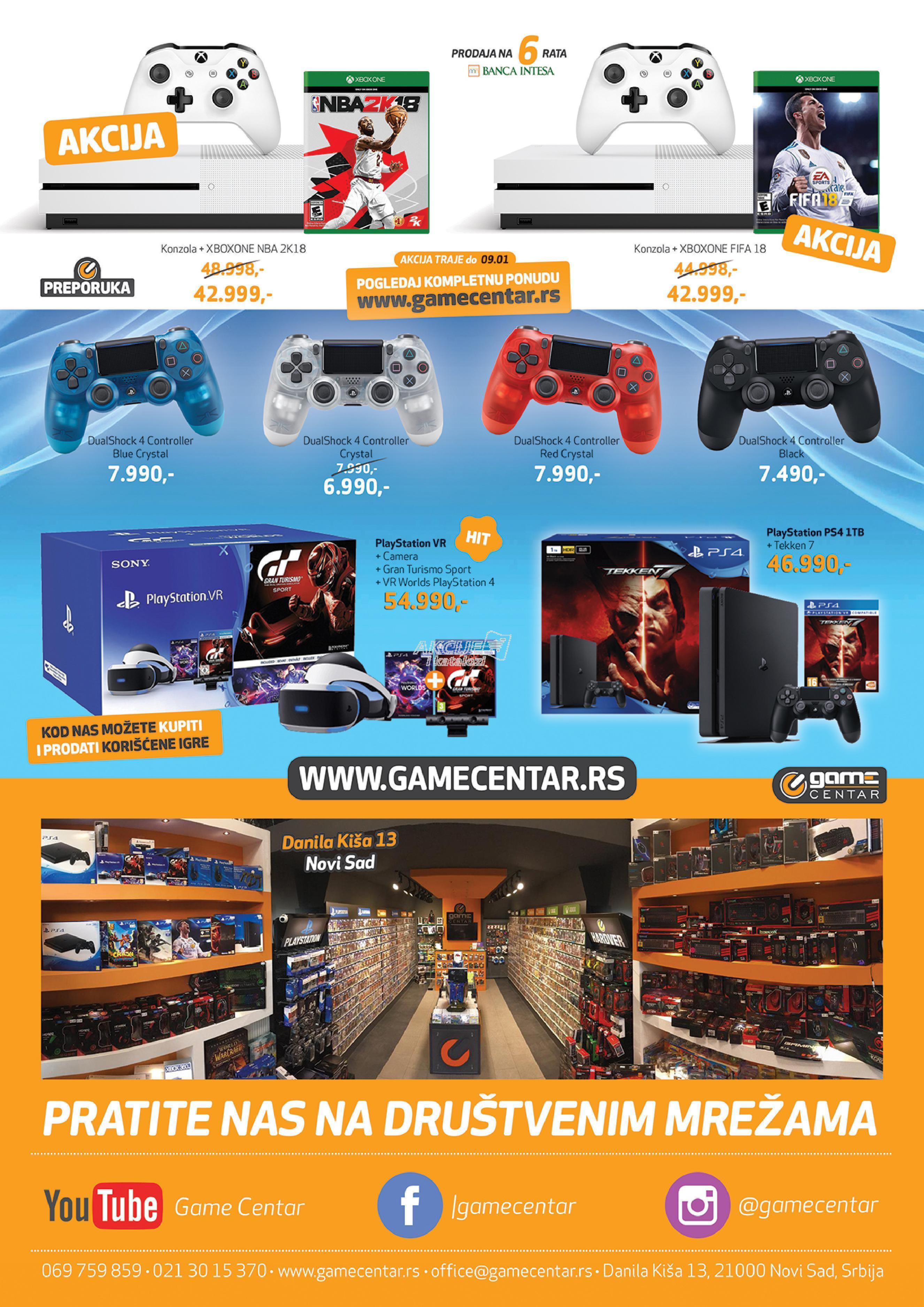 Game Centar akcija praznične kupovine