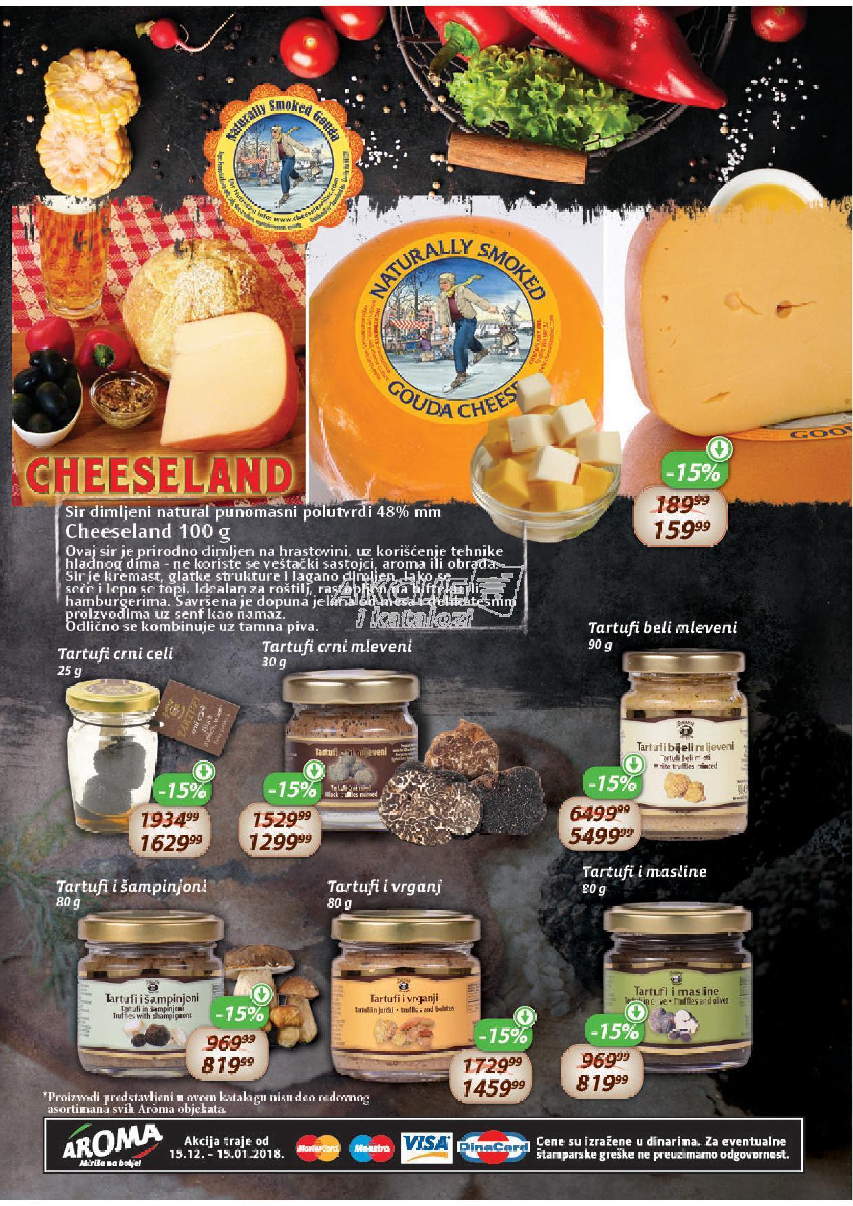 Aroma akcija super cene sireva