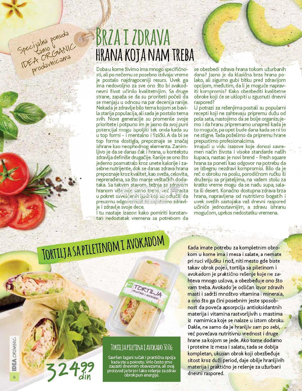Idea akcija organic ponude