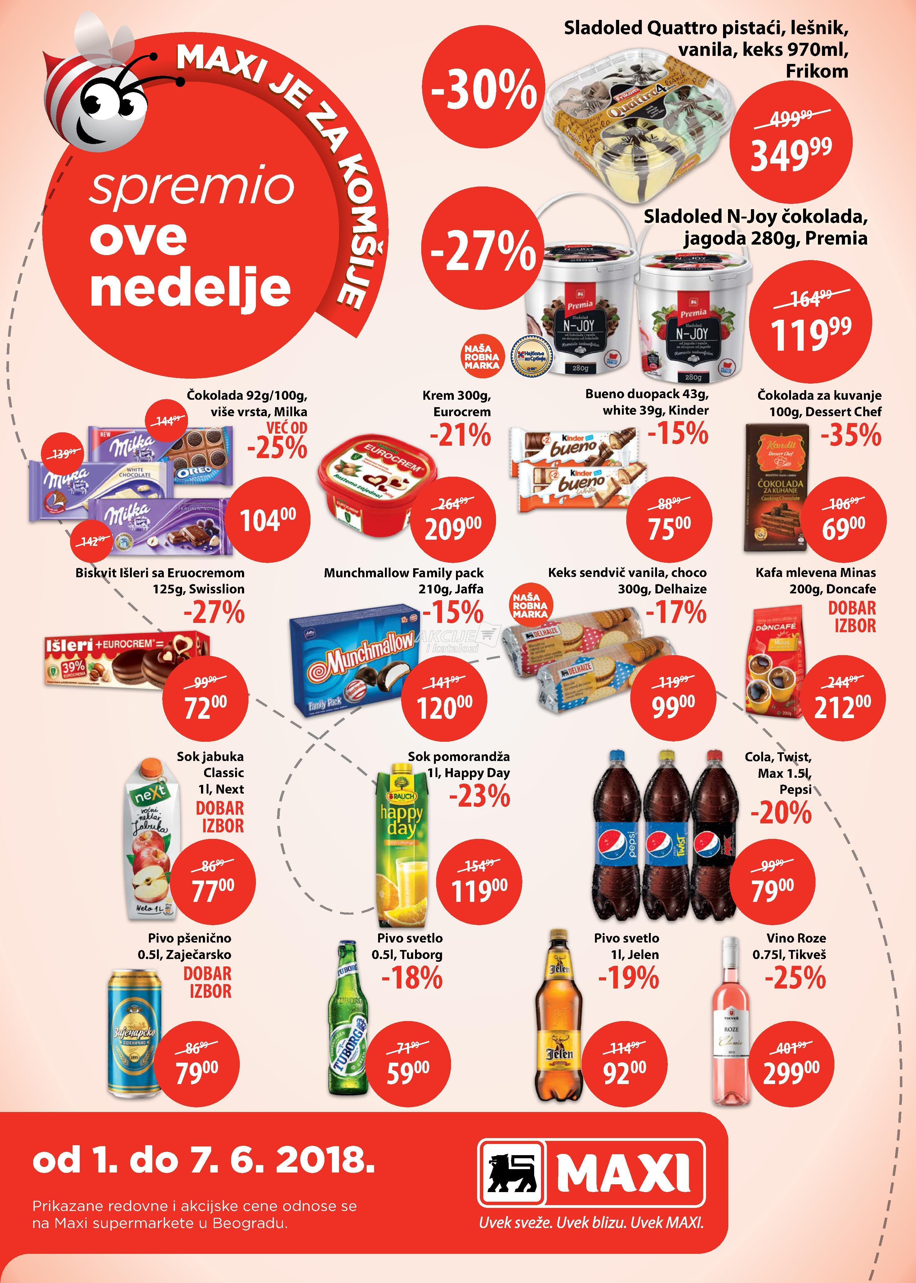 Maxi akcija nedeljne kupovine