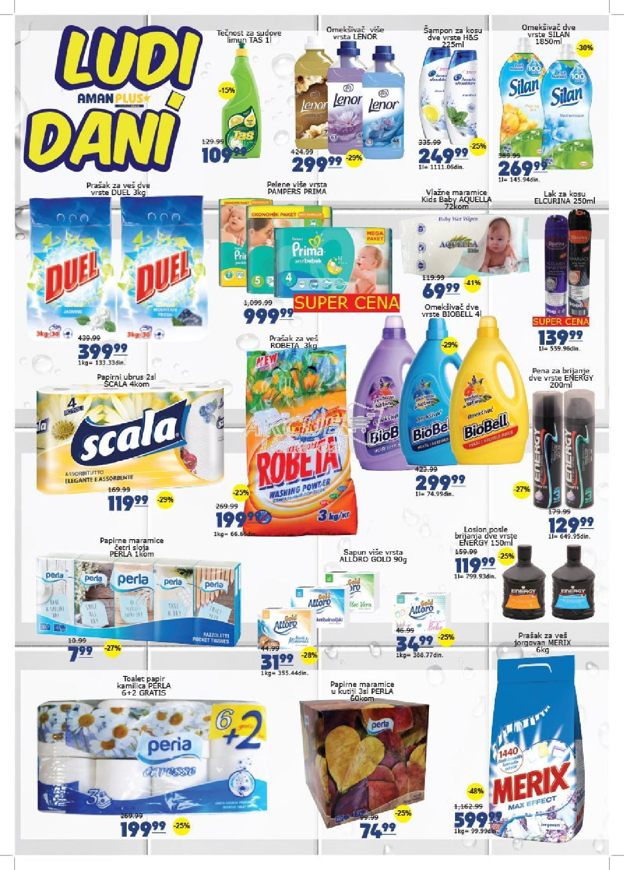 Aman Plus akcija nedeljne kupovine