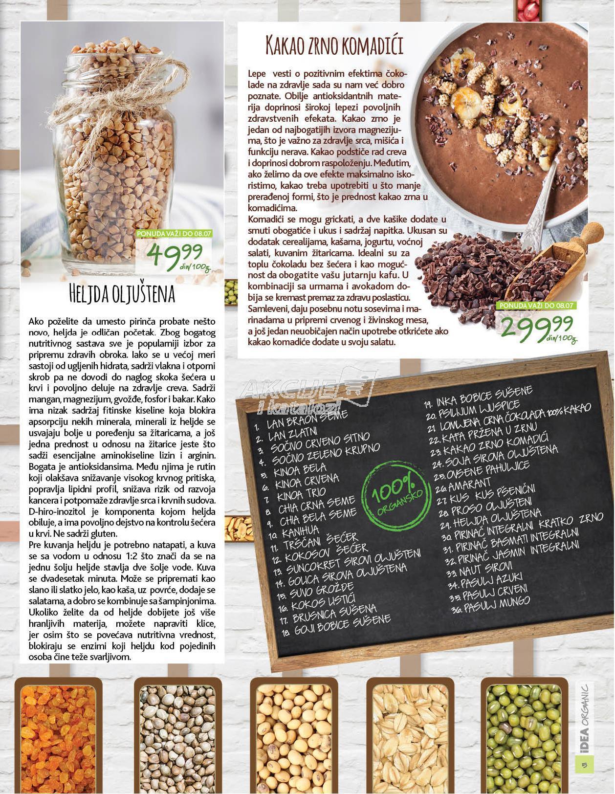Idea akcija organic proizvodi po super ceni
