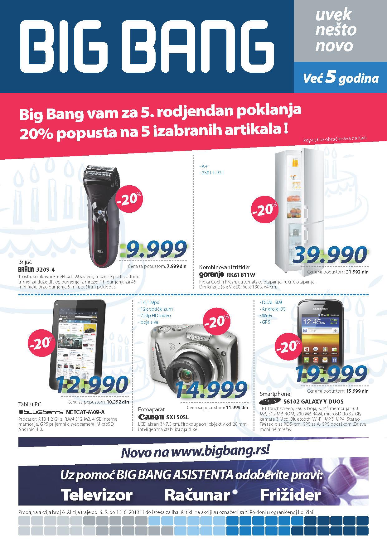 Big Bang Katalog Tehnika