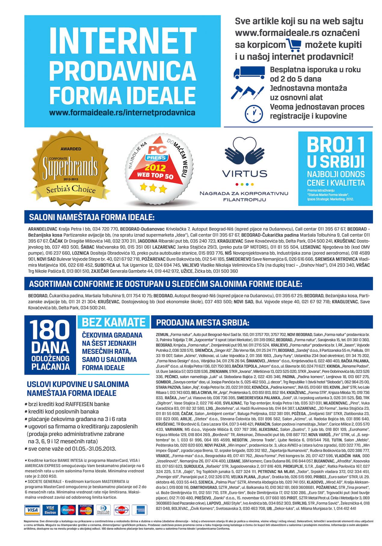 Forma Ideale Katalog nameštaj