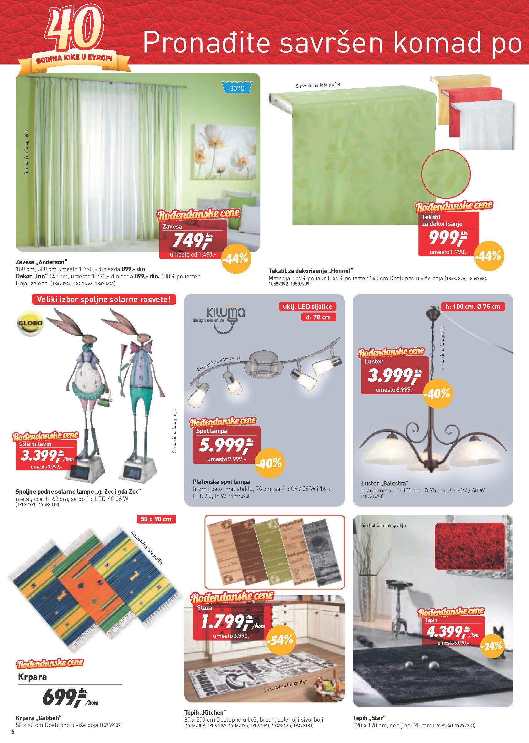Kika Katalog Rođendanske cene