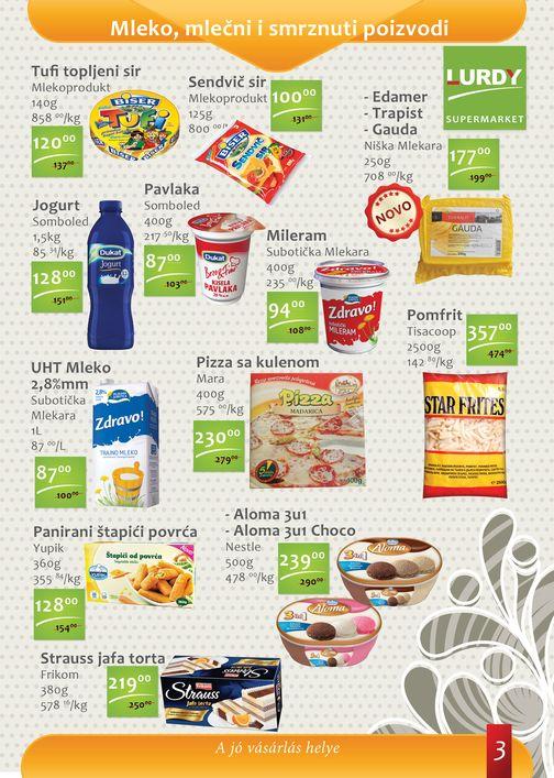 Lurdy Katalog Prehrana