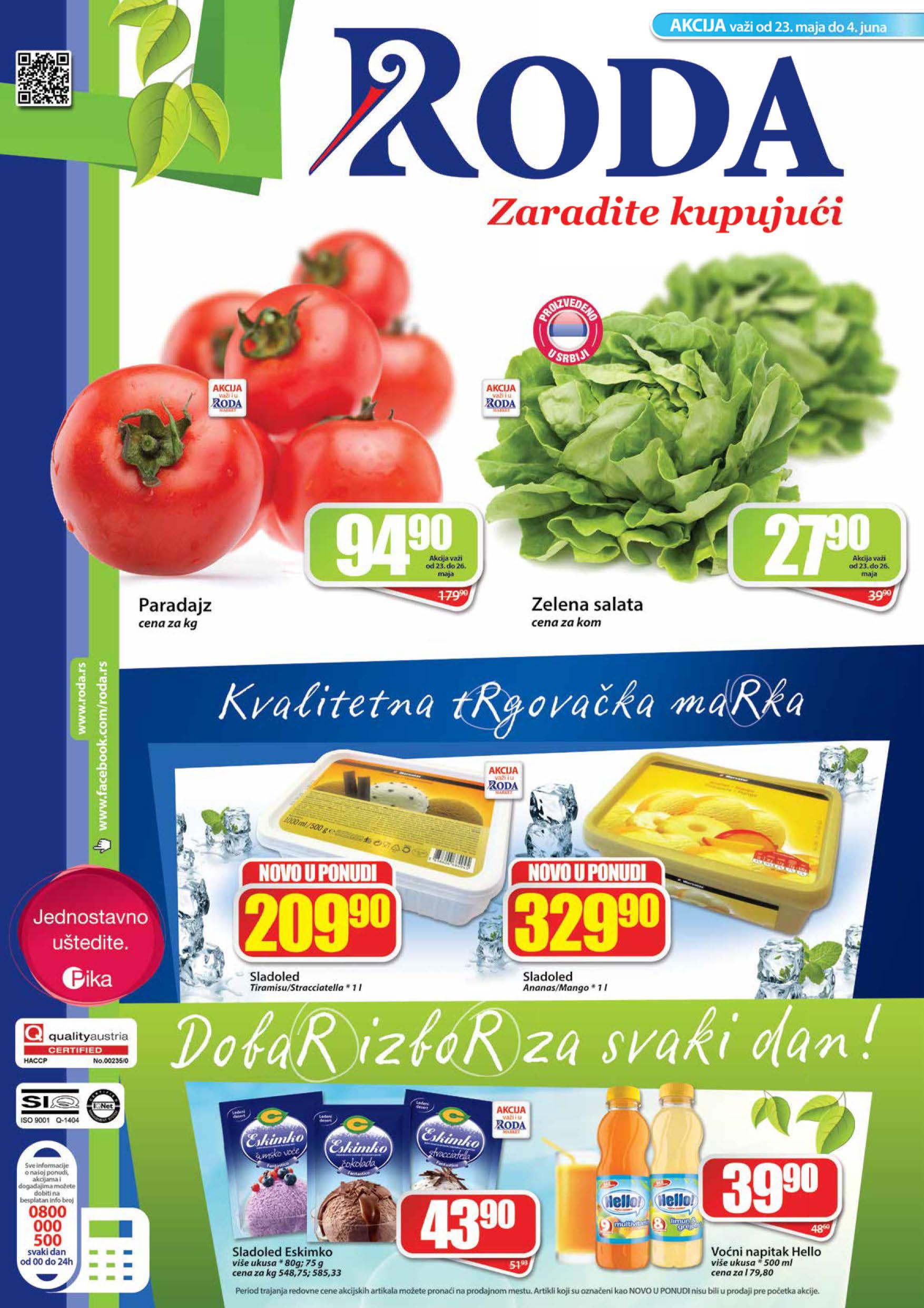 Roda Katalog Prehrana