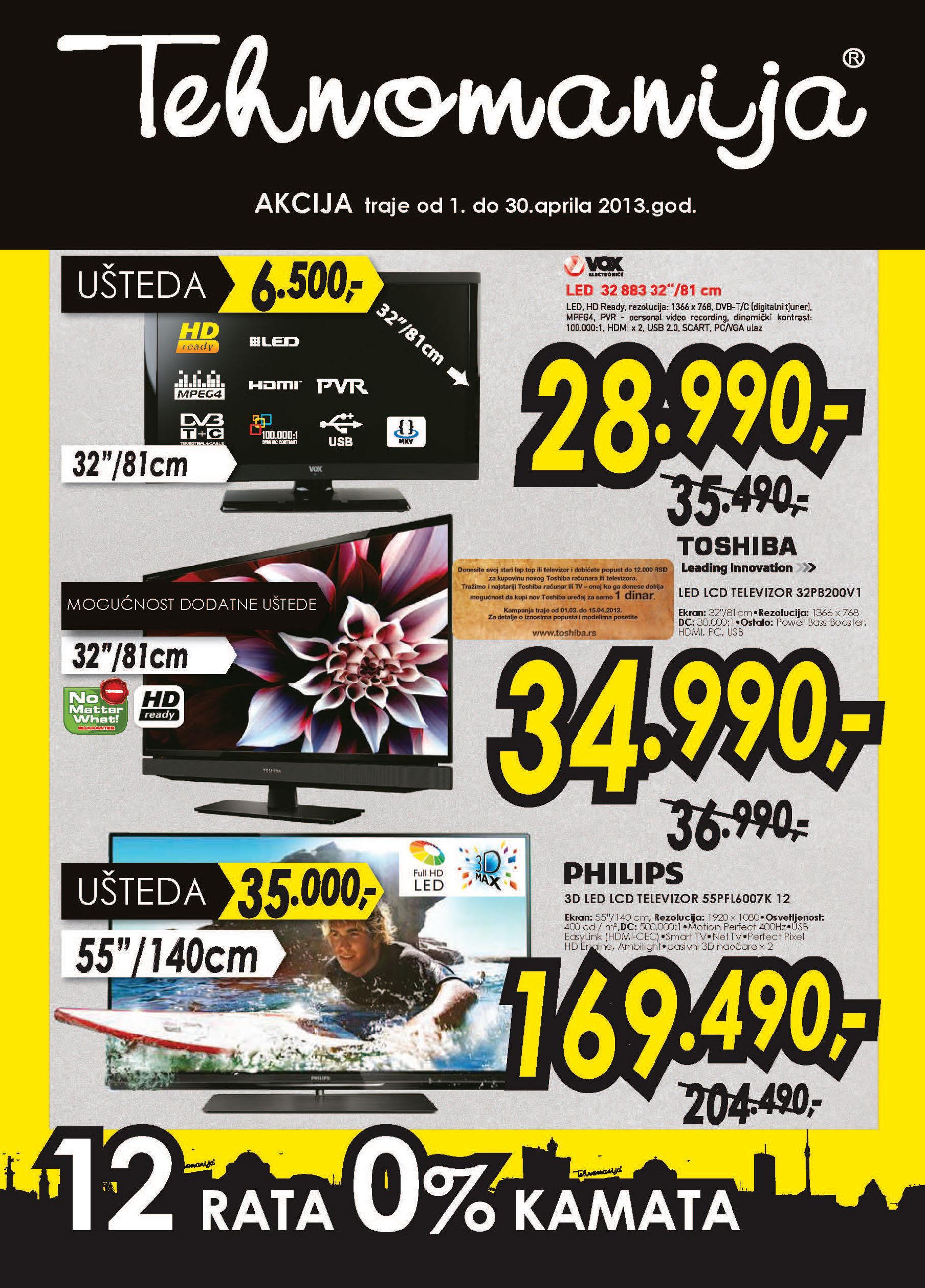 Tehnomanija Katalog televizori