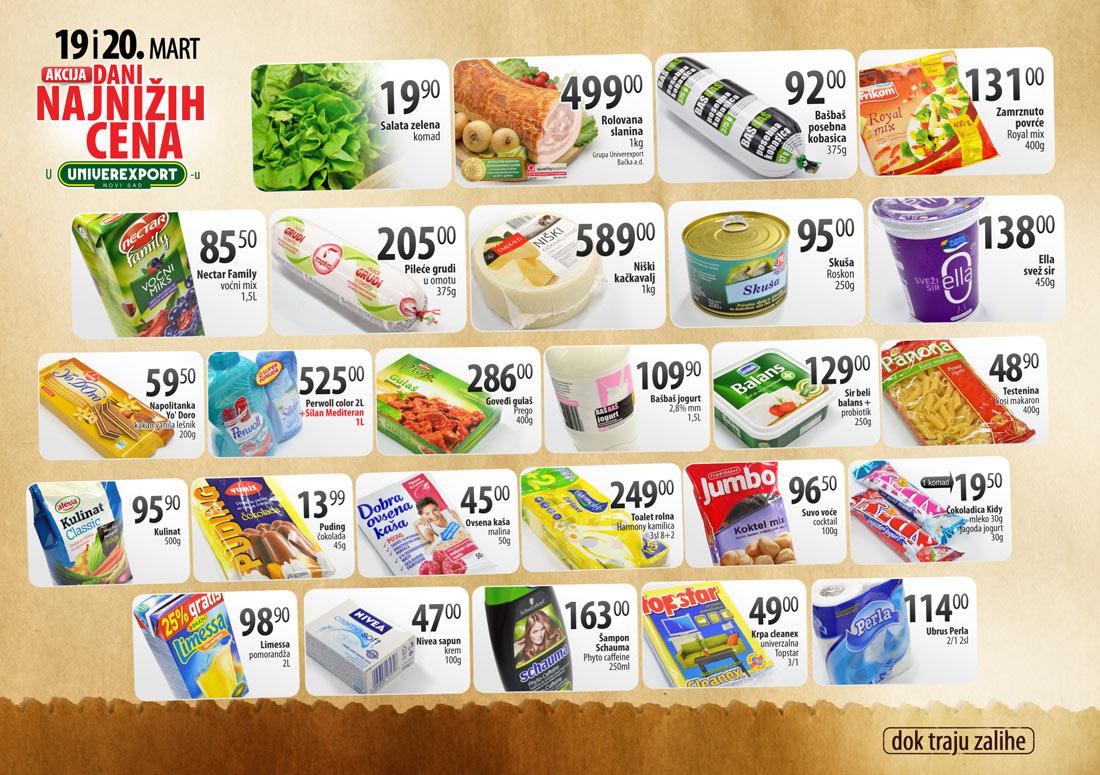 Univerexport Katalog Akcija Najnižih Cena