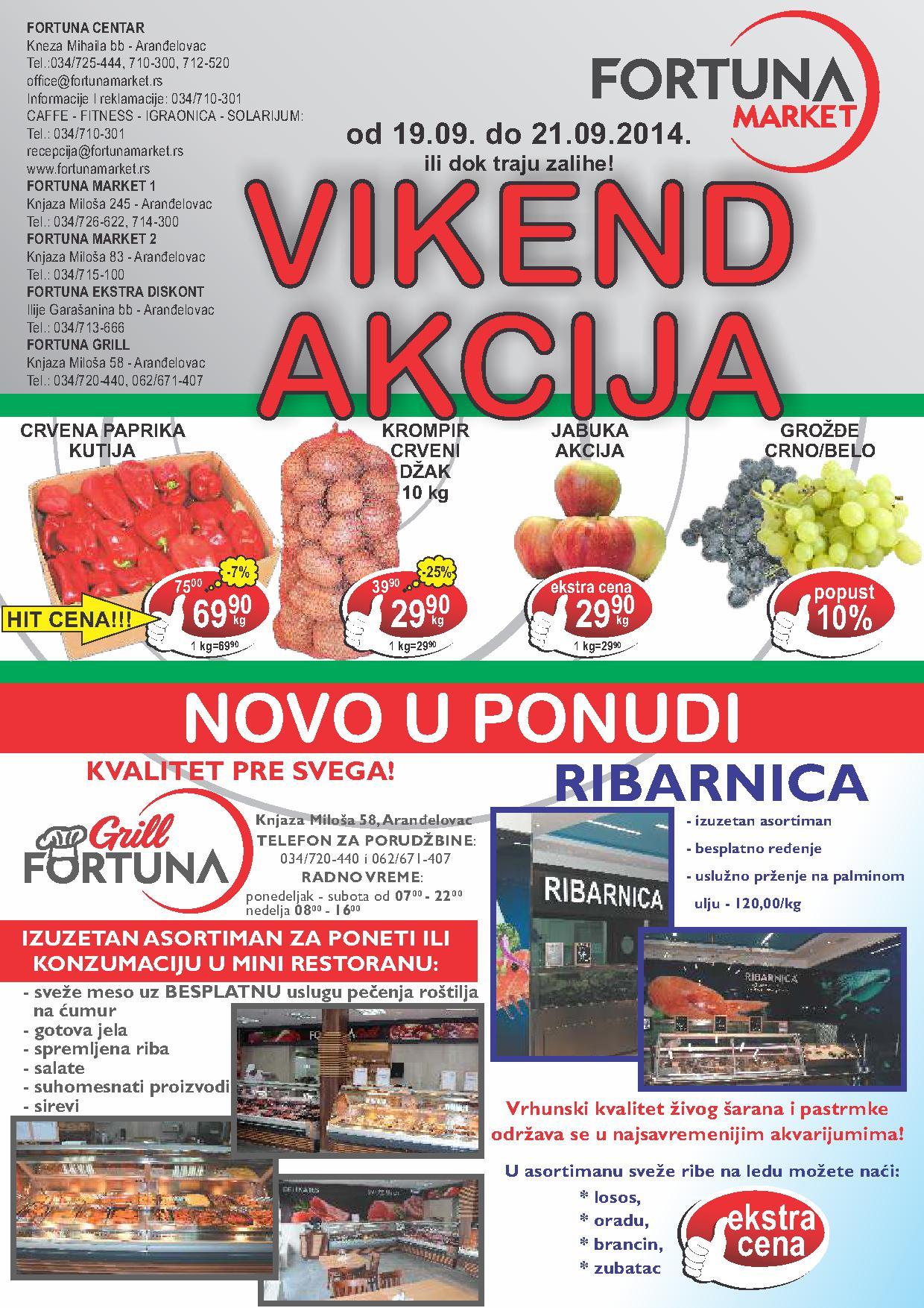 Fortuna market akcija vikend popusta