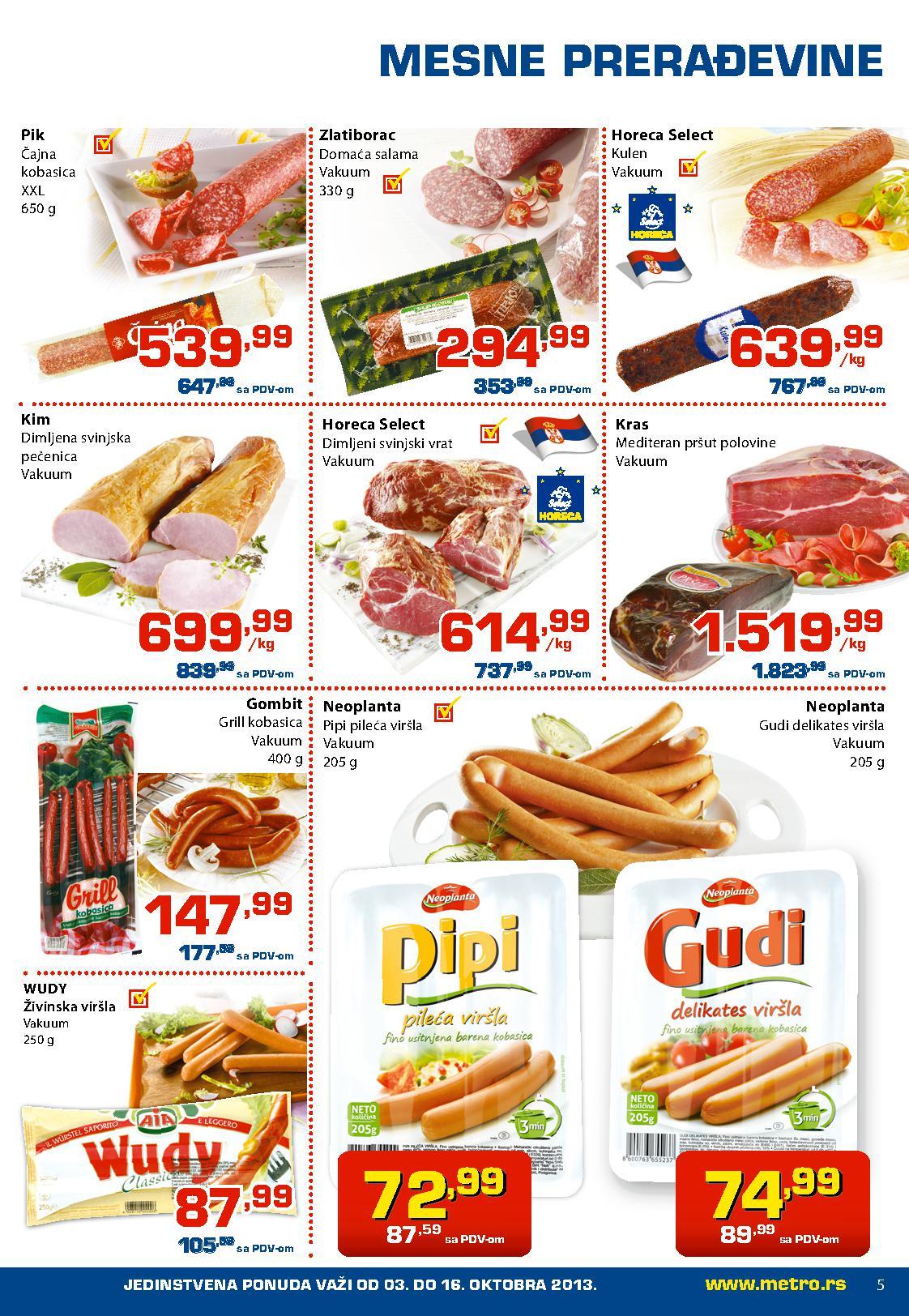 Metro katalog prehrana odlična ponuda