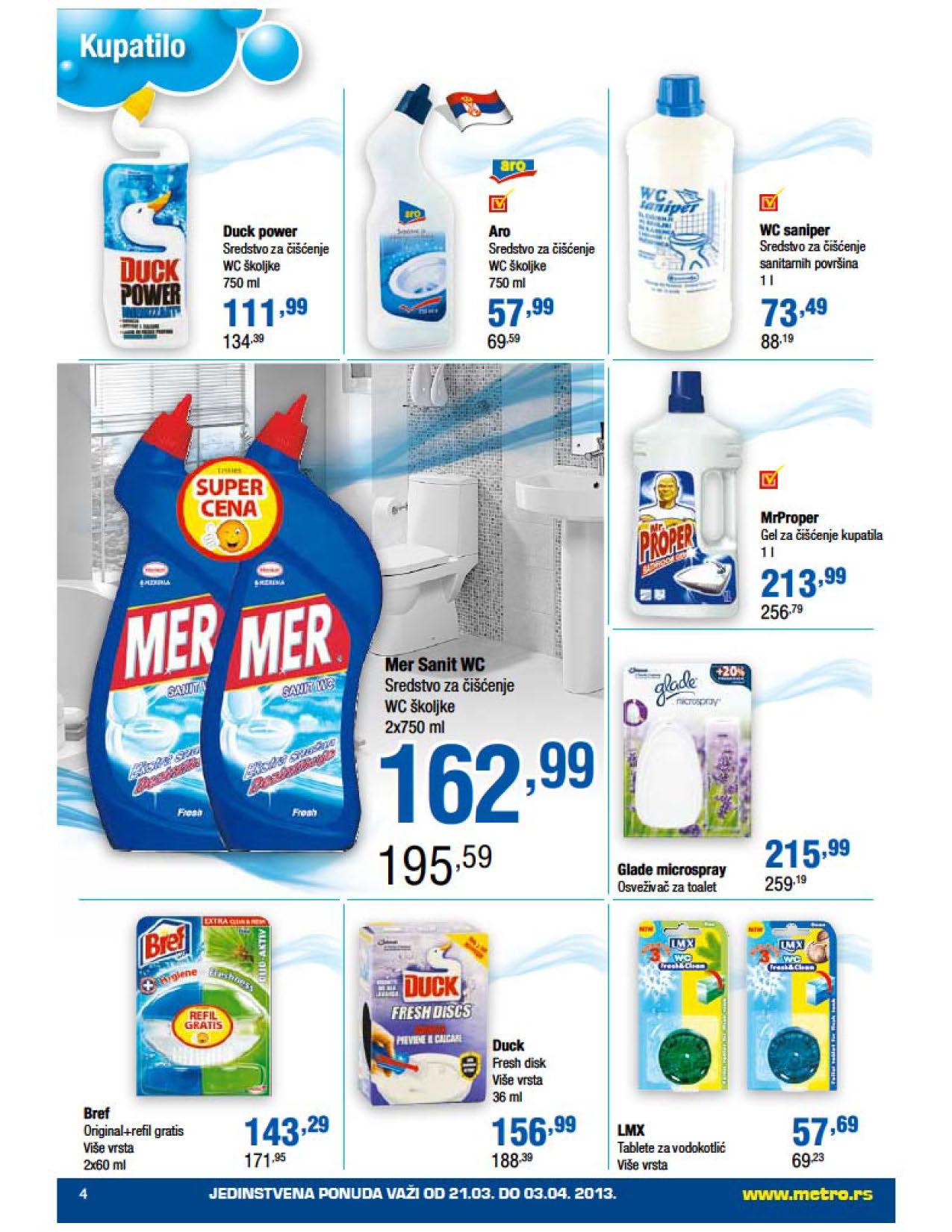 Metro Katalog Kućna hemija