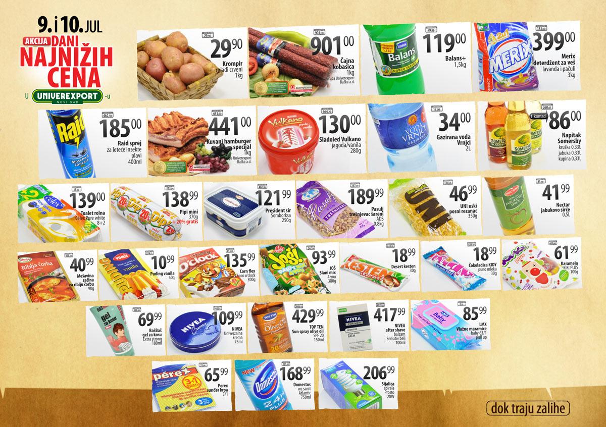 Univerexport Katalog Niske cene